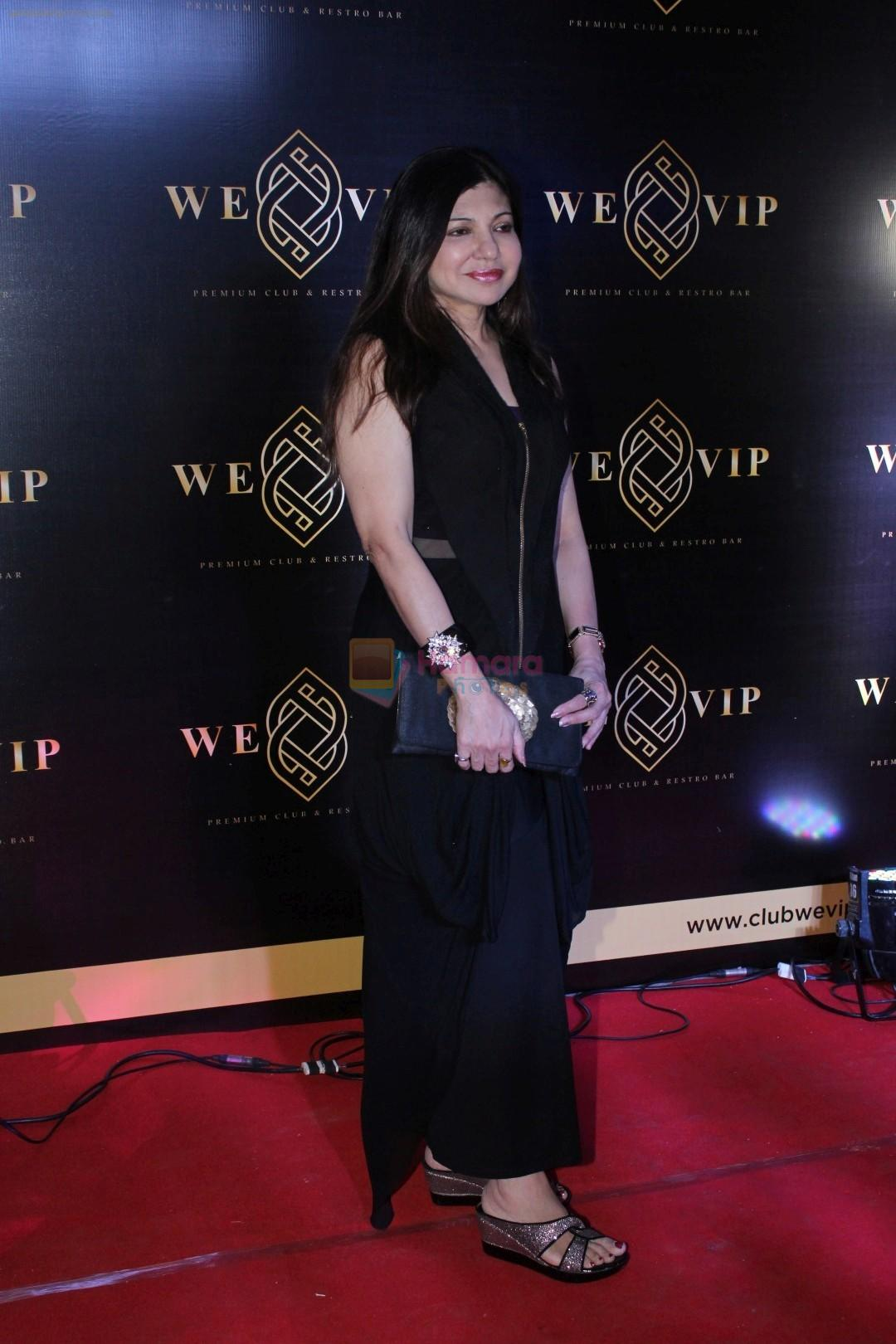 Alka Yagnik at the Launch Party Of We-VIP The Most Premium Night Club & Lounge on 23rd Nov 2017