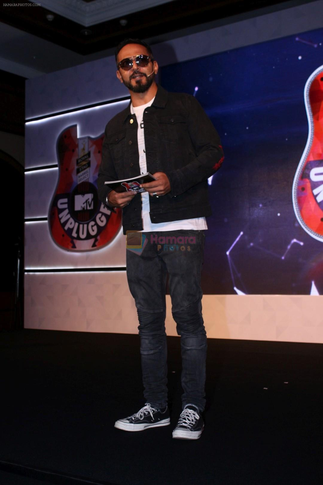 Nikhil Chinapa at the Press conference Of Royal Stag Barrel Select Mtv Unplugged on 29th Nov 2017