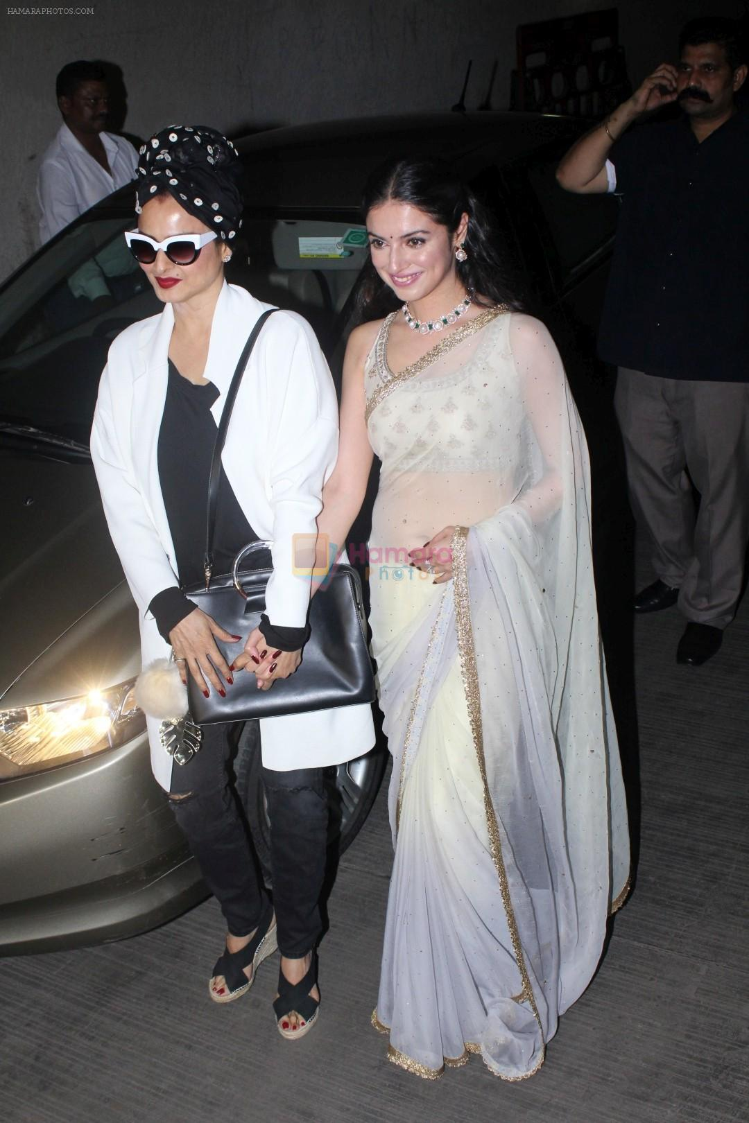 Rekha, Divya Khosla Kumar at the Special Screening Of Short Film Bulbul on 11th Dec 2017