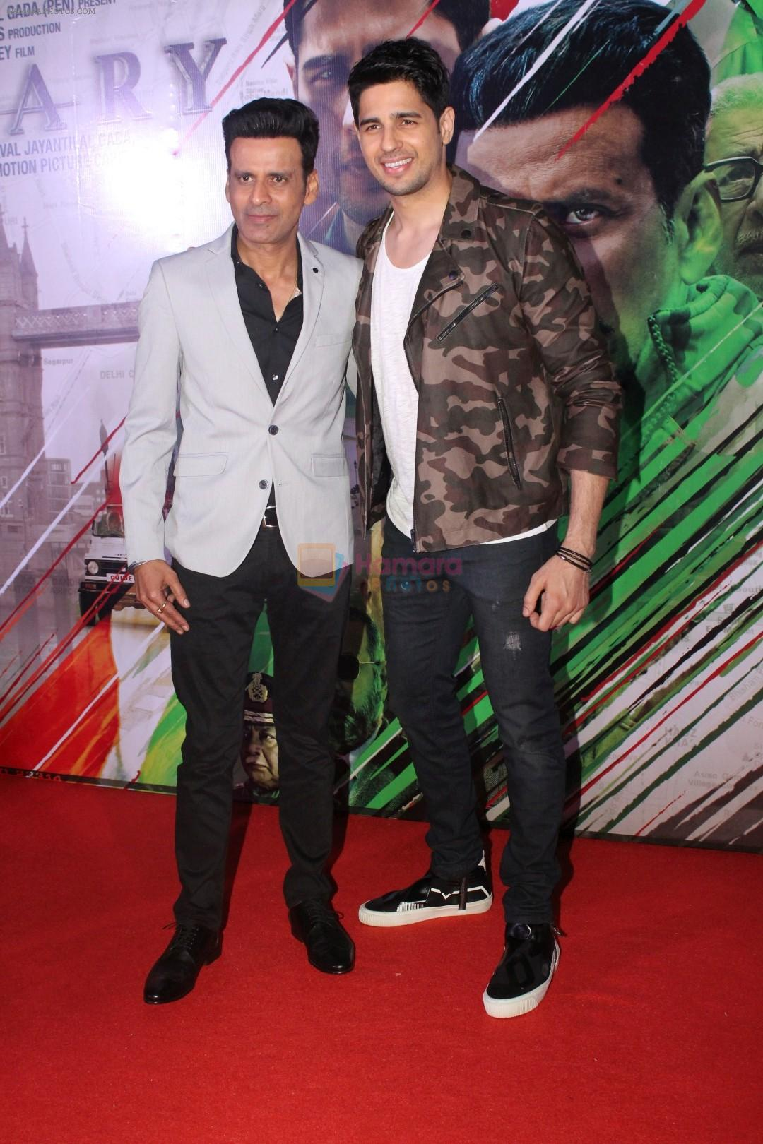 Sidharth Malhotra, Manoj Bajpayee at the Trailer Launch of Film Aiyaary on 19th Dec 2017