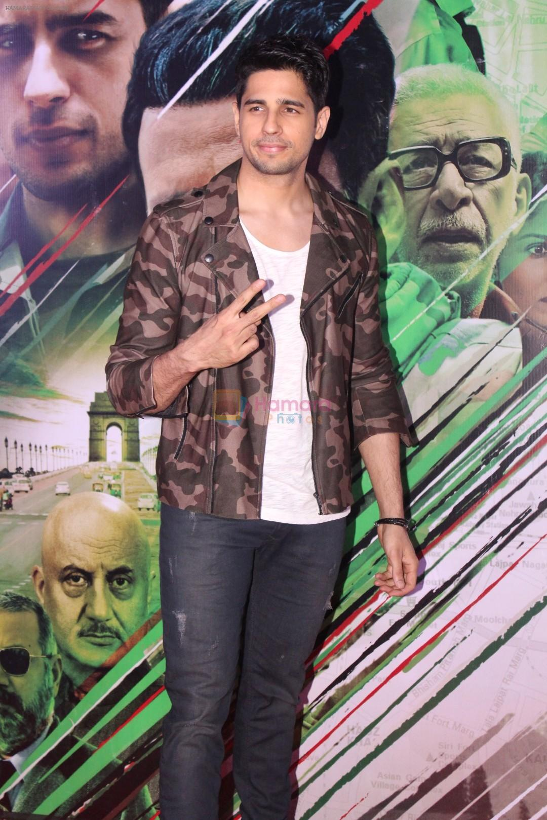 Sidharth Malhotra at the Trailer Launch of Film Aiyaary on 19th Dec 2017