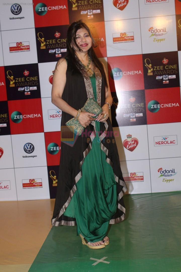 Alka Yagnik at the Red Carpet Event Of Zee Cine Awards 2018 on 19th Dec 2017