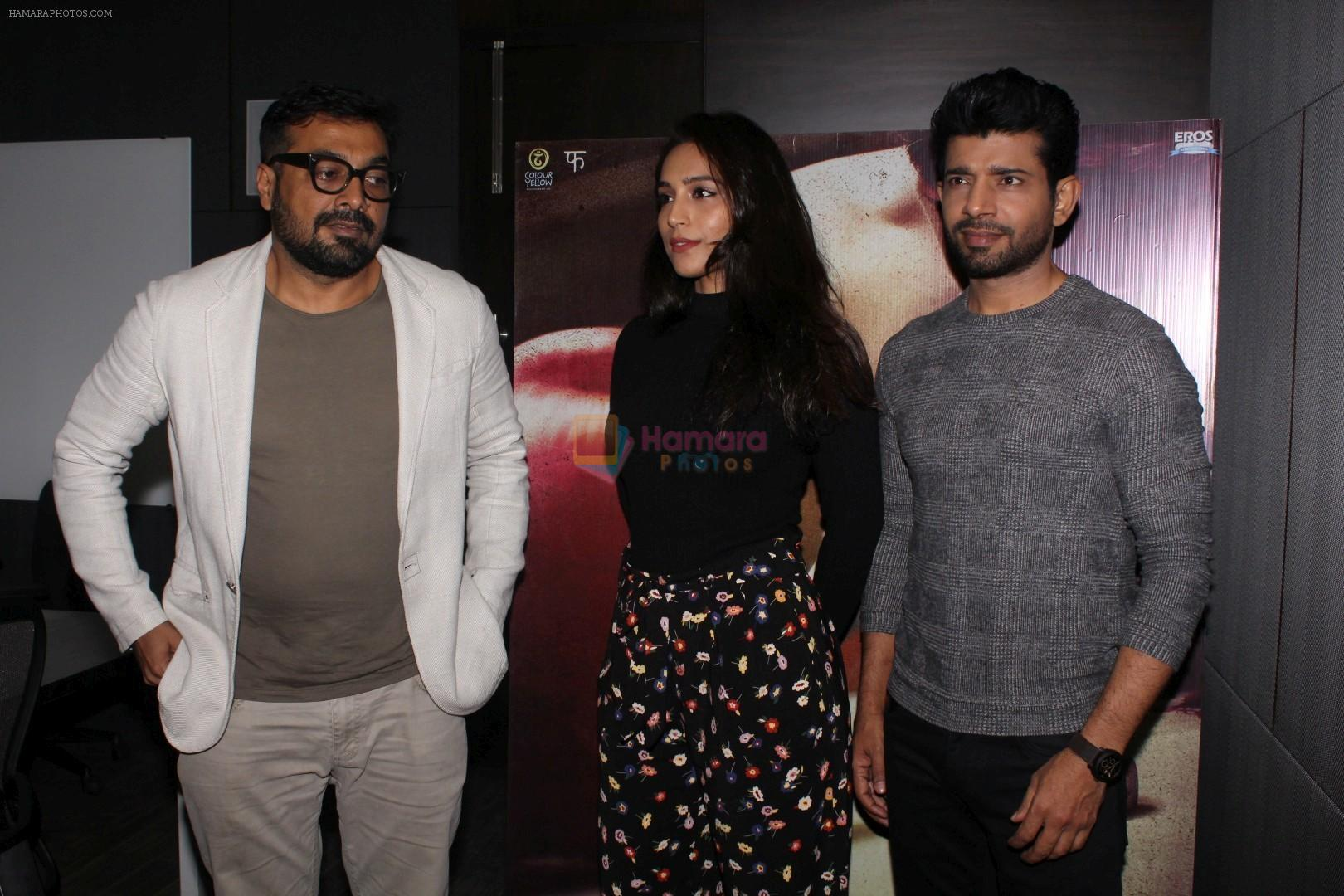 Vineet Kumar Singh, Zoya Hussain, Anurag Kashyap at the promotion of Mukkabaaz Movie on 7th Jan 2018