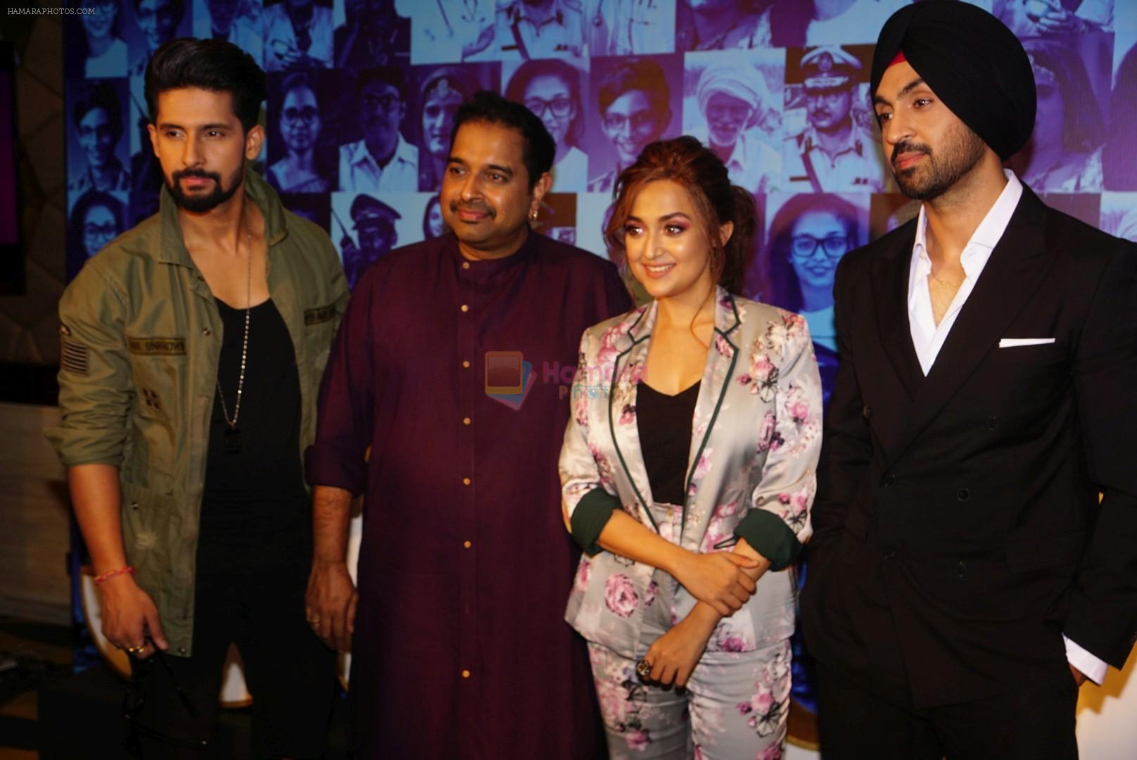 Diljit Dosanjh, Monali Thakur, Shankar Mahadevan, Ravi Dubey at the Press Conference Of Rising Star 2 At Taj on 16th Jan 2018
