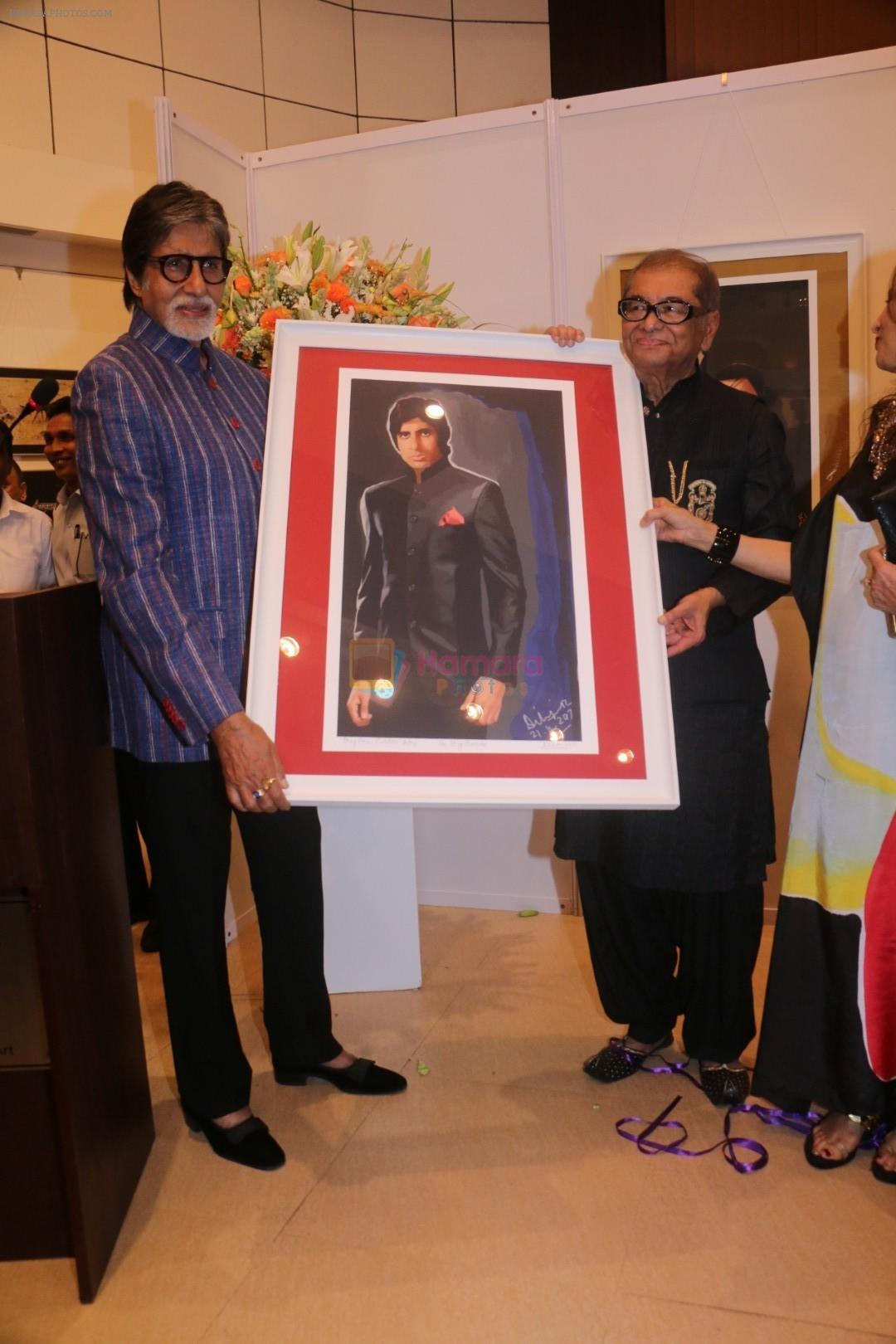 Amitabh Bachchan At Opening Preview Of Dilip De's Art Exhibition on 26th Jan 2018
