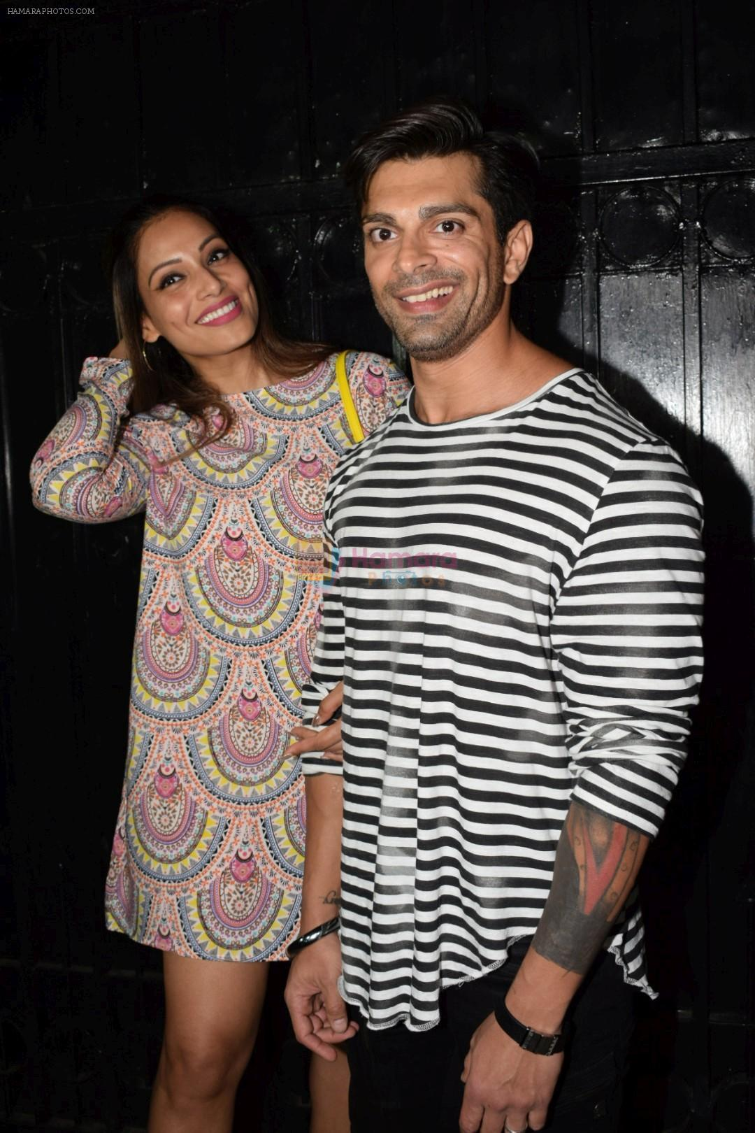 Bipasha Basu, Karan Singh Grover at Ekta Kapoor's party at her juhu home on 29th Jan 2018