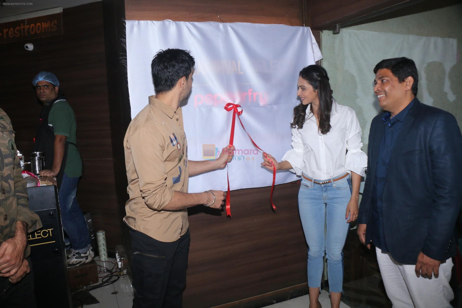 Sidharth Malhotra, Rakulpreet Singh at the launch of Carnival cinema Lounge in carnival cinema, Andheri on 16th Feb 2018