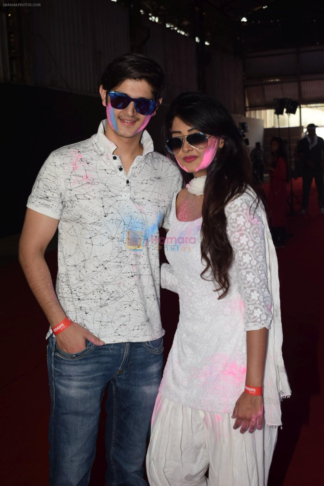 Rohan Mehra, Kanchi Singh at Zoom Holi Party at Oshiwara in mumbai on 2nd March 2018