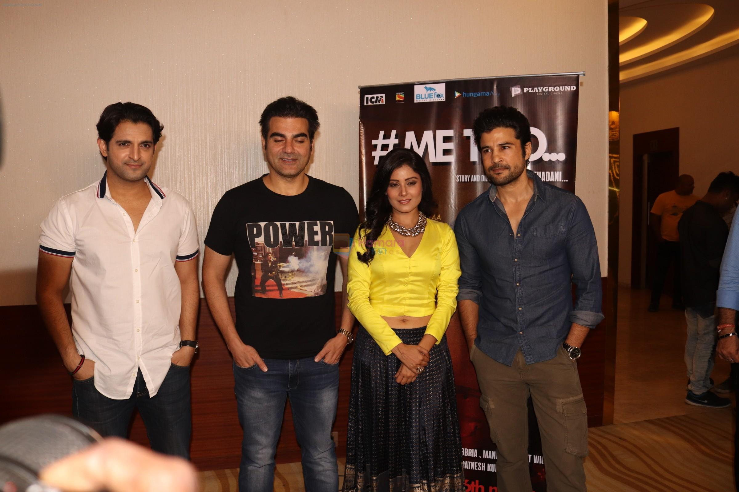 Arbaaz Khan, Rajeev Khandelwal, Archana Gupta at the Premiere of the upcoming short film #metoo at The View Andheri in mumbai on 6th March 2018