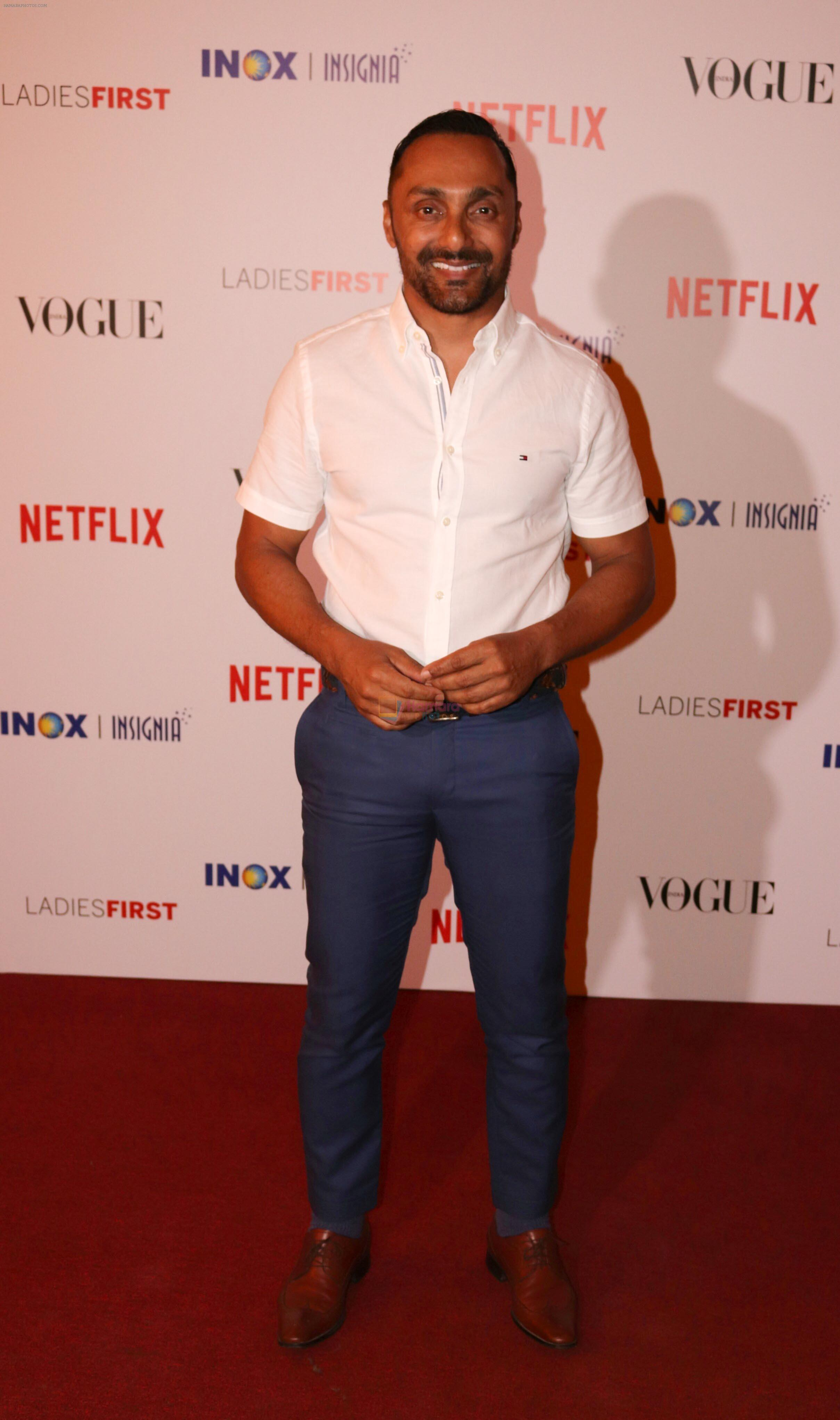 Rahul Bose at the Premier of _Ladies First_- The First Original Netflix Documentary that chronicles the life of World No 1 Archer, Deepika Kumari on 8th March 2018
