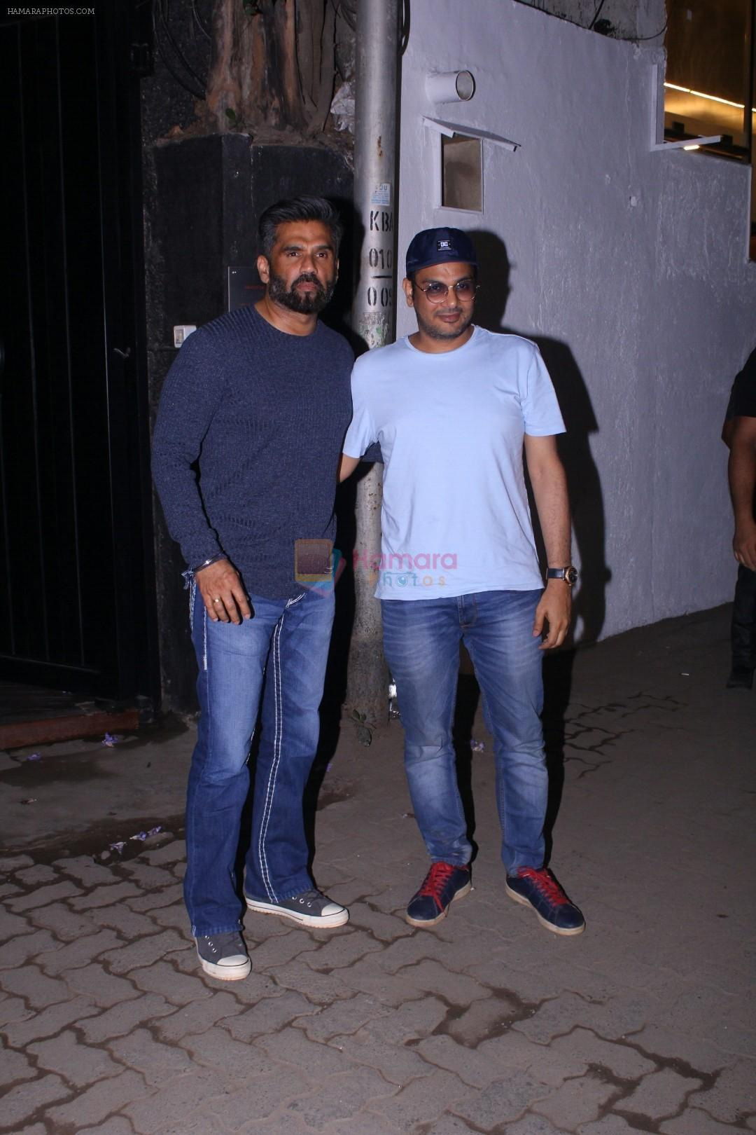 Sunil Shetty, Mukesh Chhabra at the Launch of B lounge in juhu on 8th March 2018