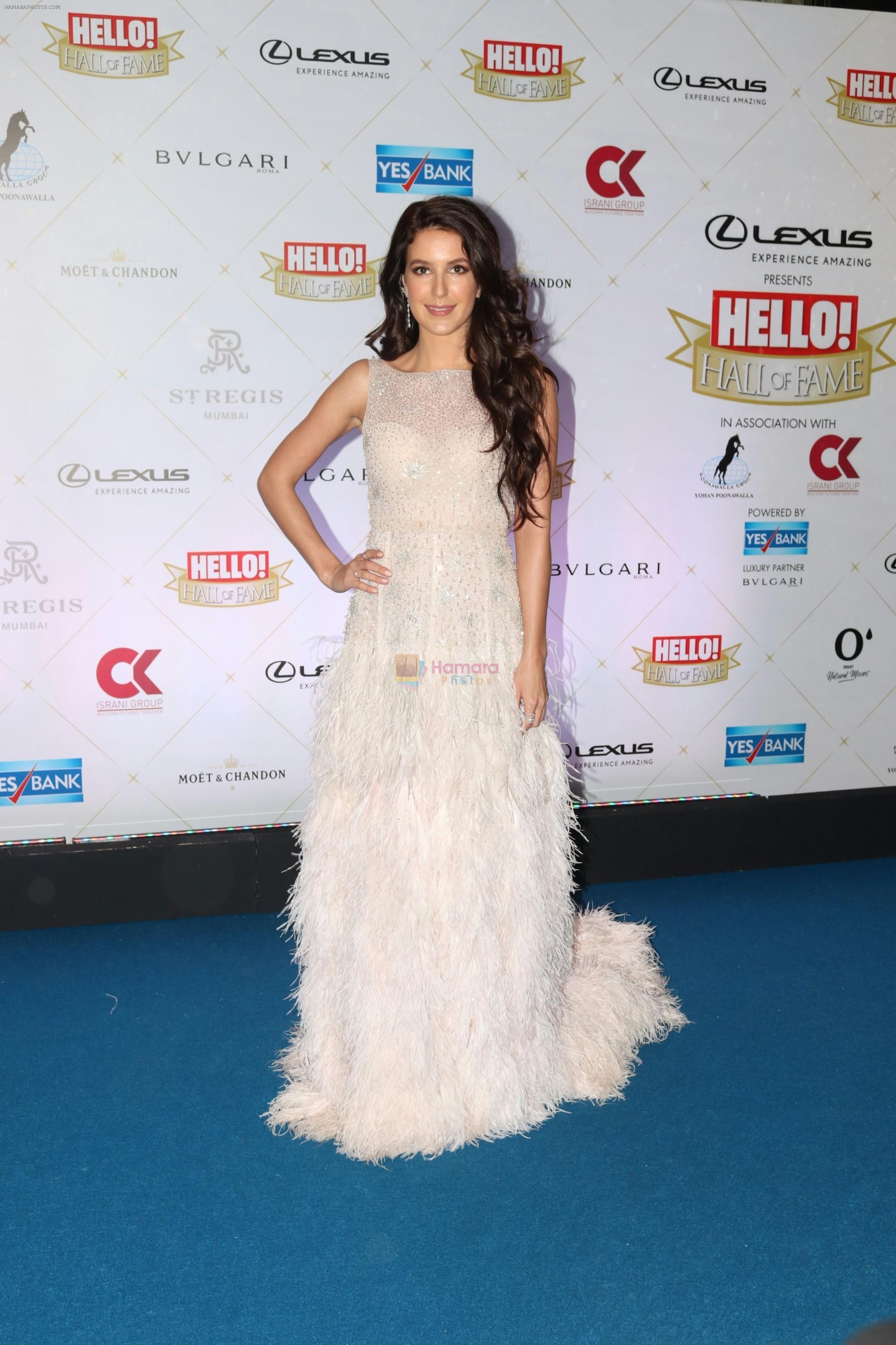 Isabelle Kaif at Hello Hall of Fame Awards in st regis in mumbai on 12th March 2018