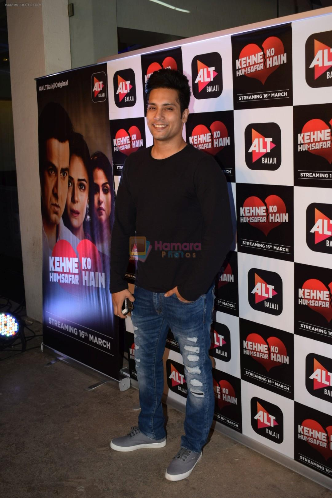Manraj Singh at the Screening of Alt Balaji's Kehne Ko Humsafar Hain on 13th March 2018
