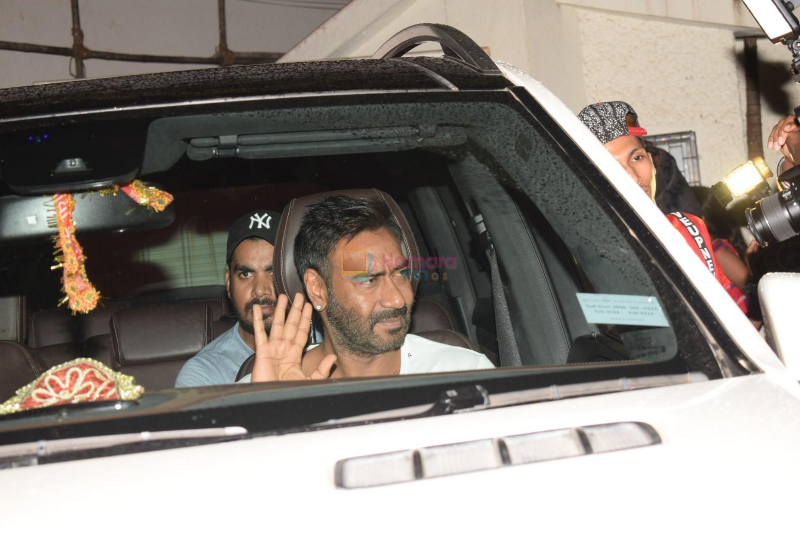 Ajay Devgan at the Screening Of Movie Raid At Sunny Super Sound on 15th March 2018