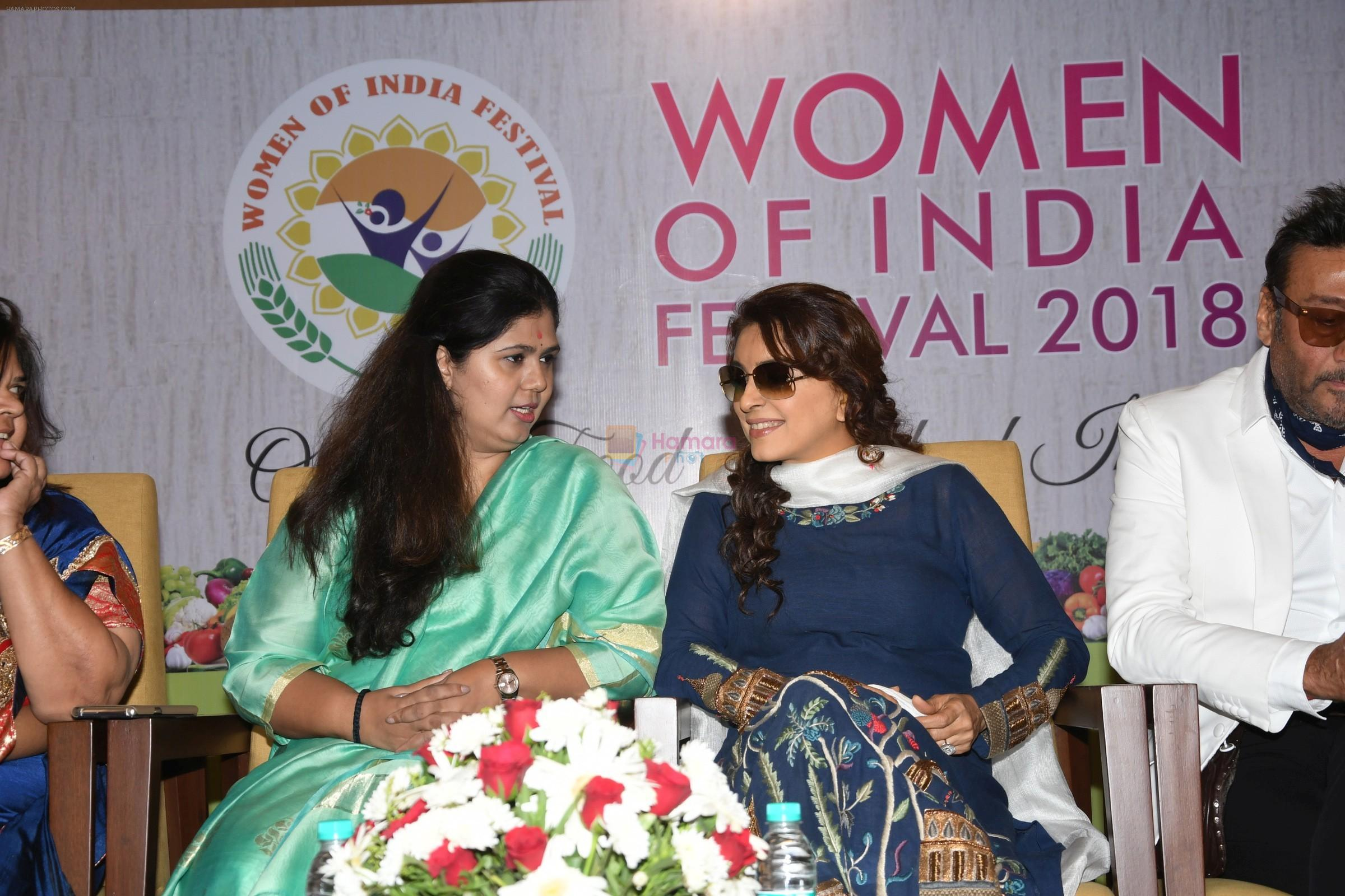 Juhi Chawla, Jackie Shroff At the Opening Of Women Of India Organic Festival on 18th March 2018