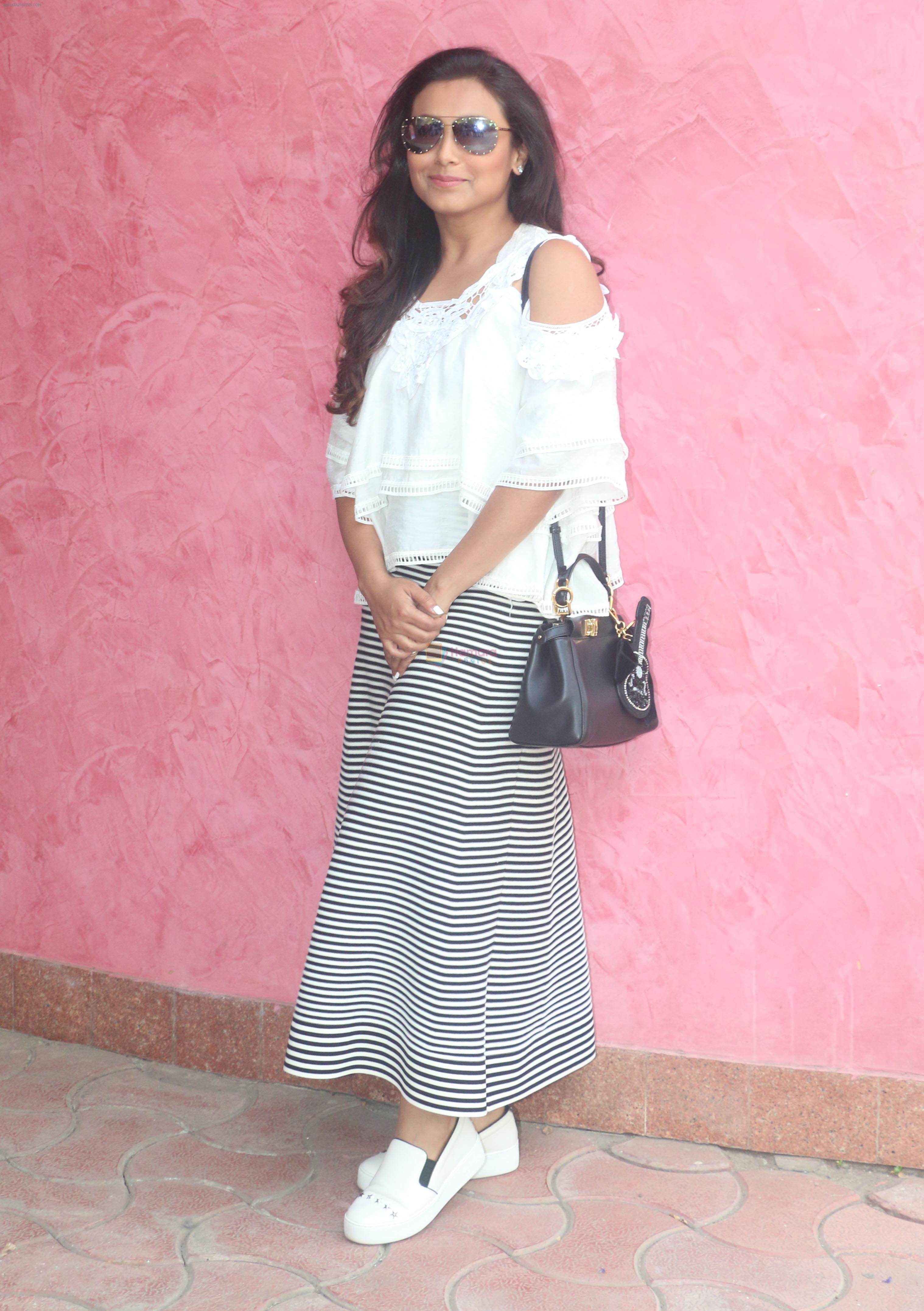 Rani Mukharjee at Yashraj studios in andheri, mumbai on 6th April 2018