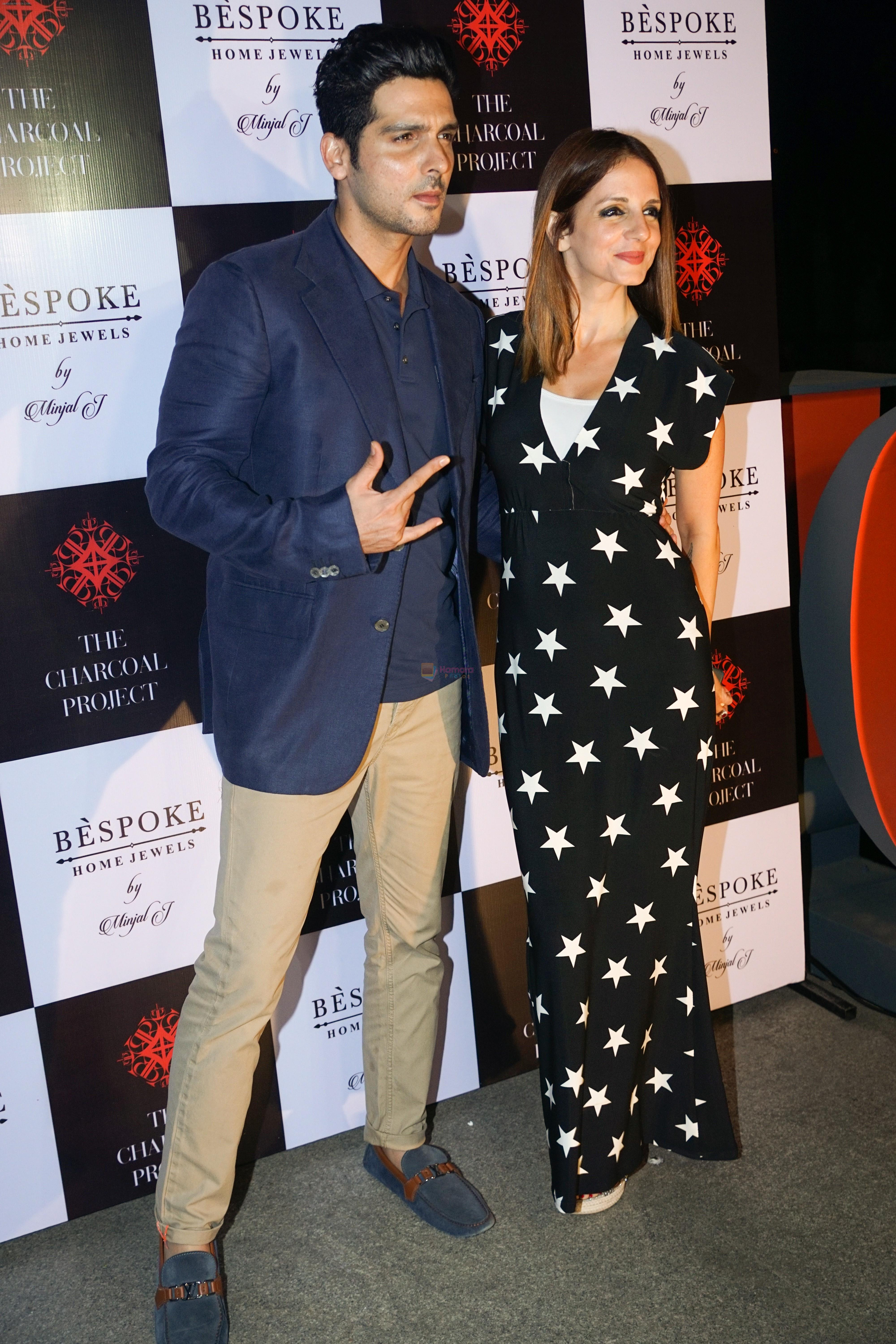 Zayed Khan, Sussanne Khan At The Launch Of Bespoke Home Jewels By Minjal Jhaveri on 13th April 2018