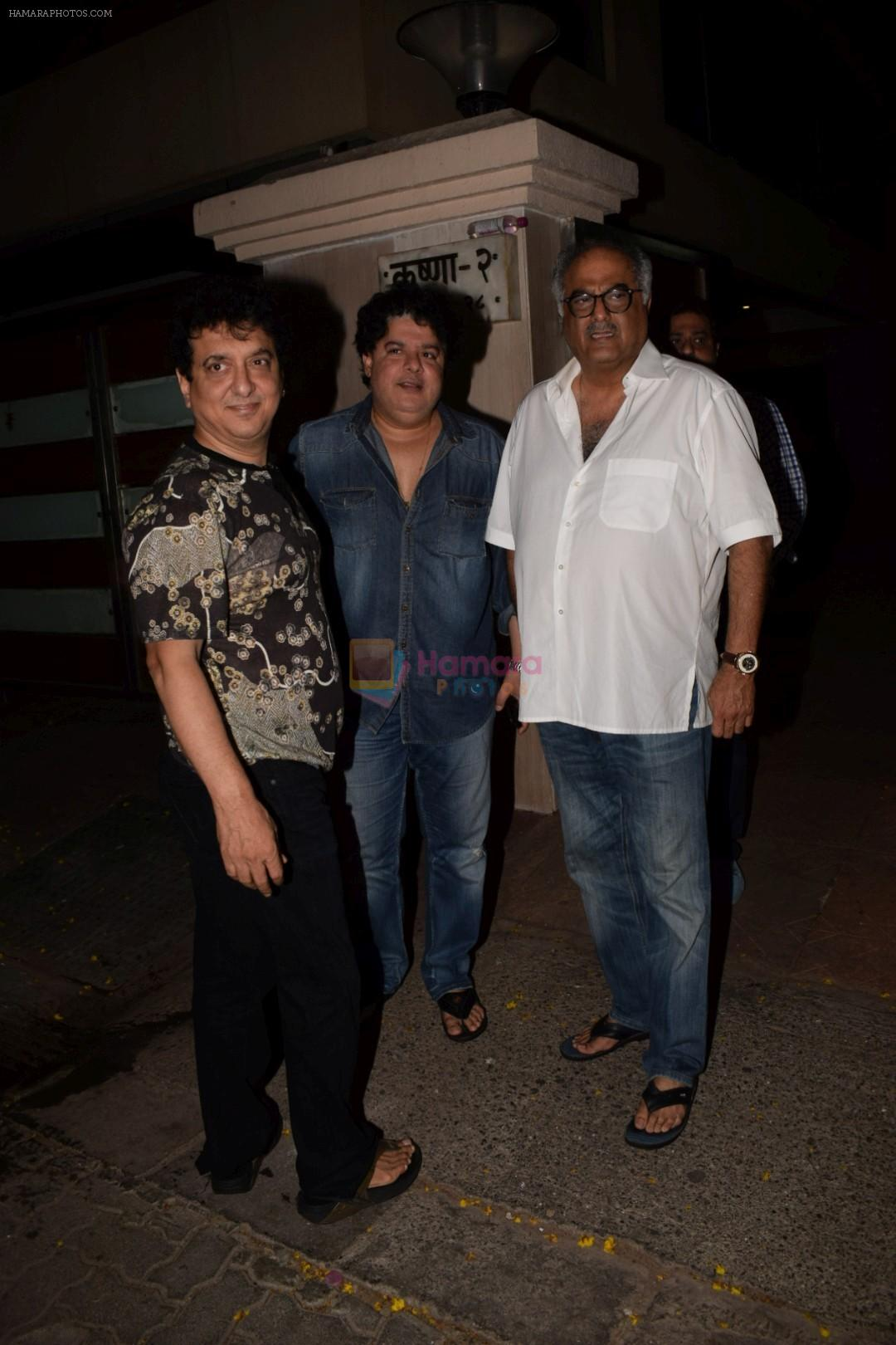 Sajid Nadiadwala, Sajid Khan & Boney Kapoor Spotted At Ekta Kapoor's House on 13th April 2018