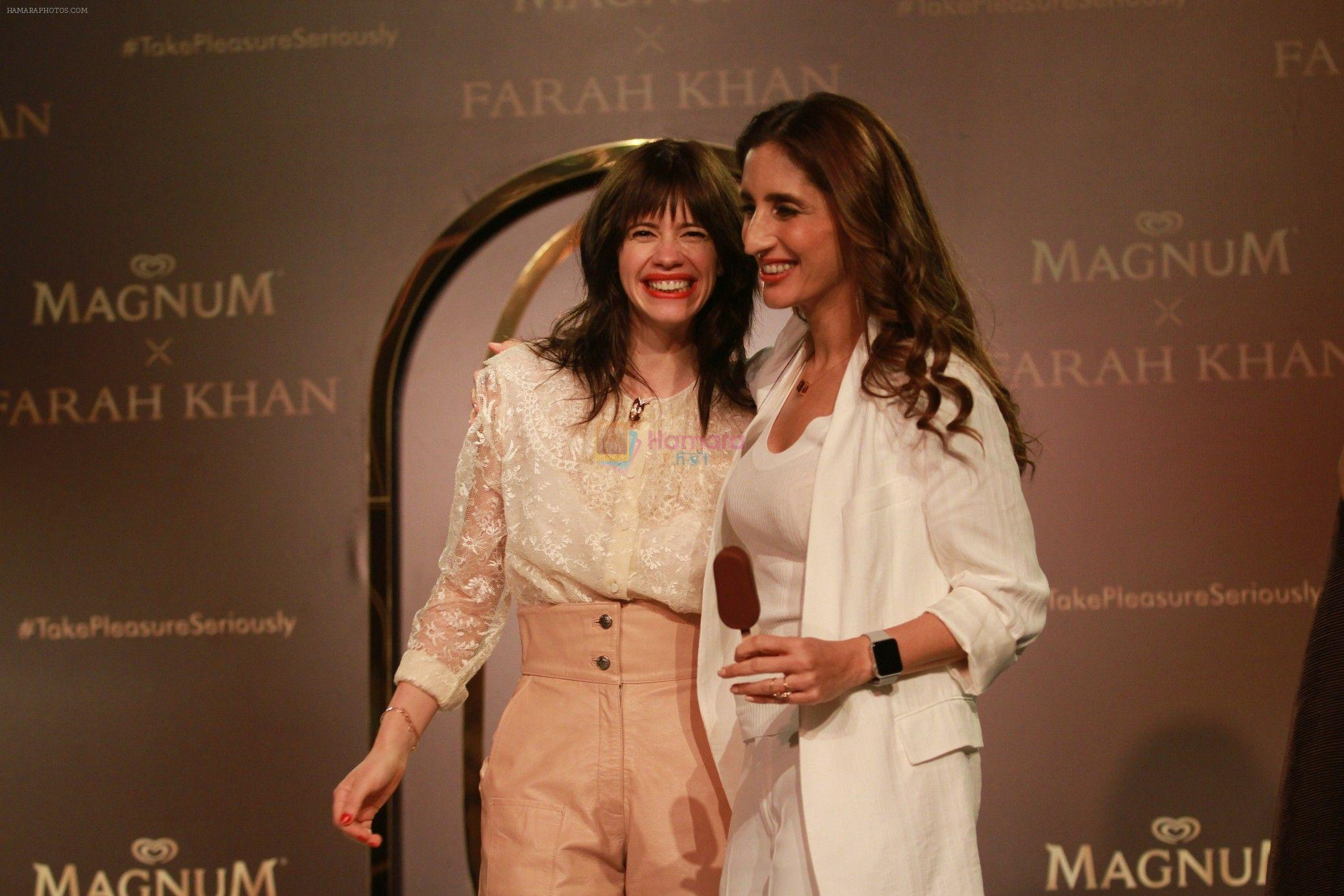Kalki Koechlin, Farah Khan Ali unveil a collection of jewels in collaboration with Magnum on 24th April 2018