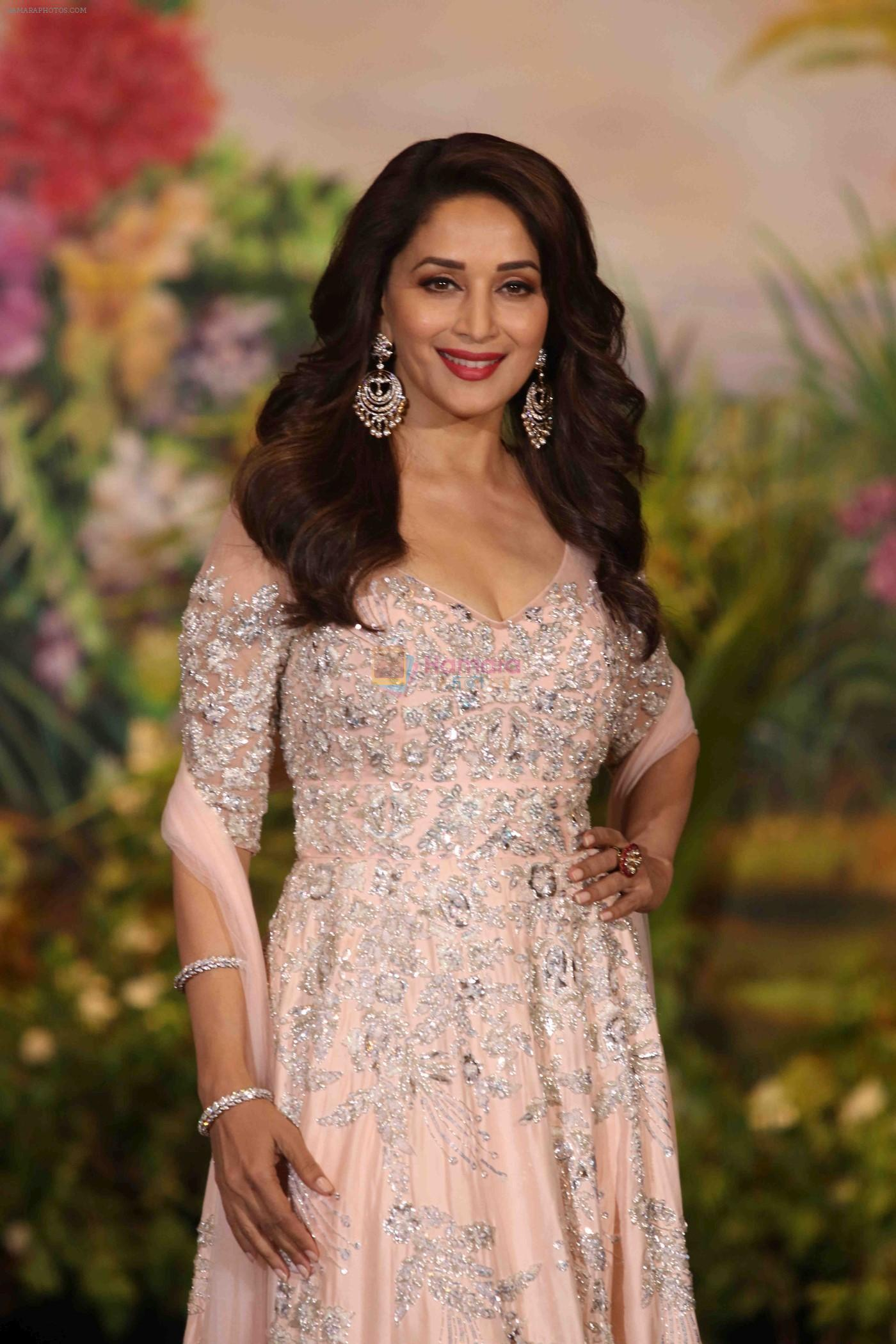 Madhuri Dixit at Sonam Kapoor and Anand Ahuja's Wedding Reception on 8th May 2018