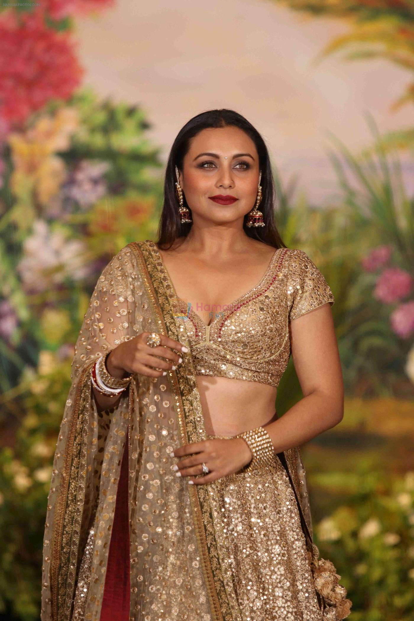Rani Mukerji at Sonam Kapoor and Anand Ahuja's Wedding Reception on 8th May 2018