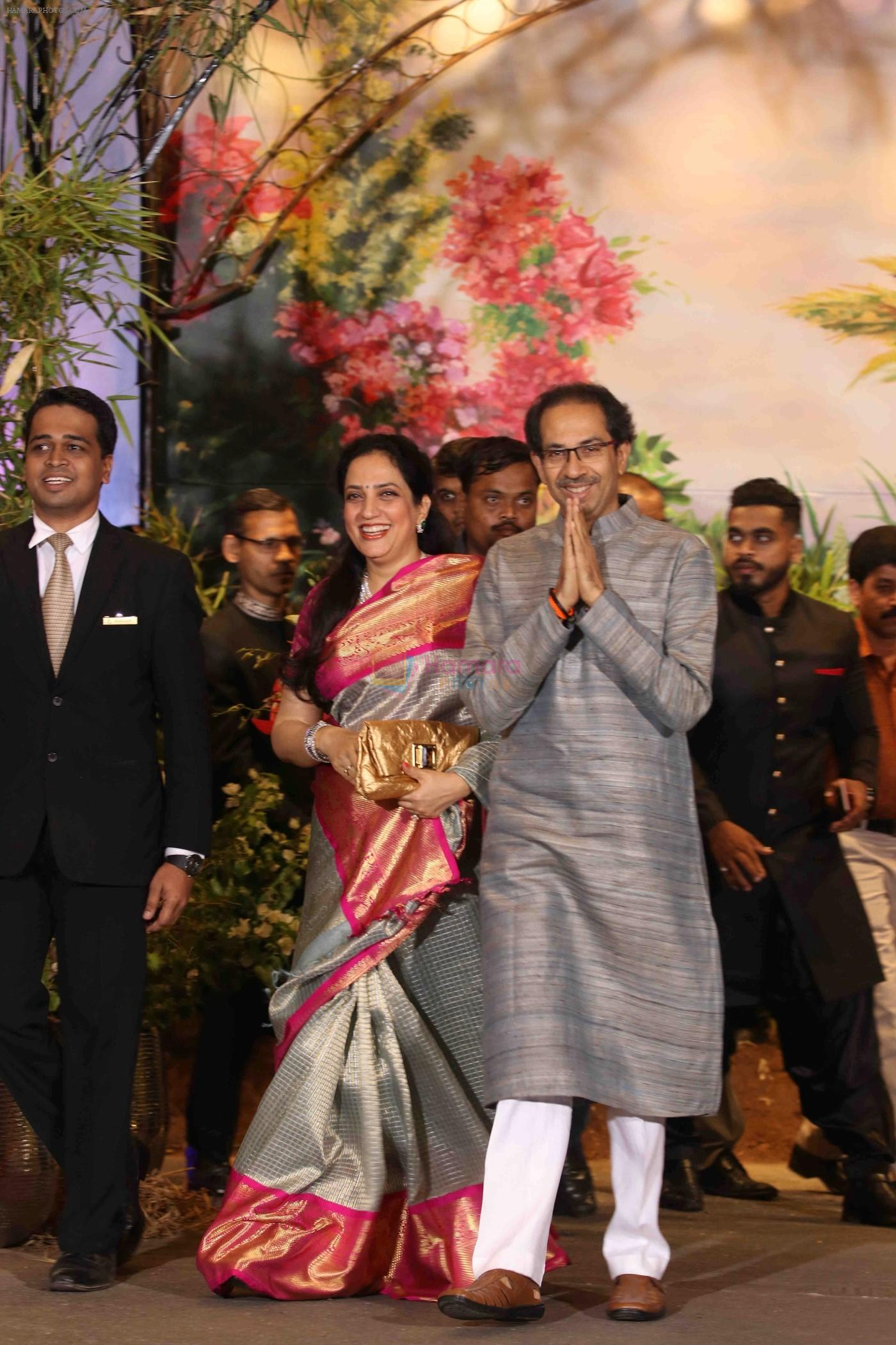 Uddhav Thackeray, Rashmi Thackeray at Sonam Kapoor and Anand Ahuja's Wedding Reception on 8th May 2018