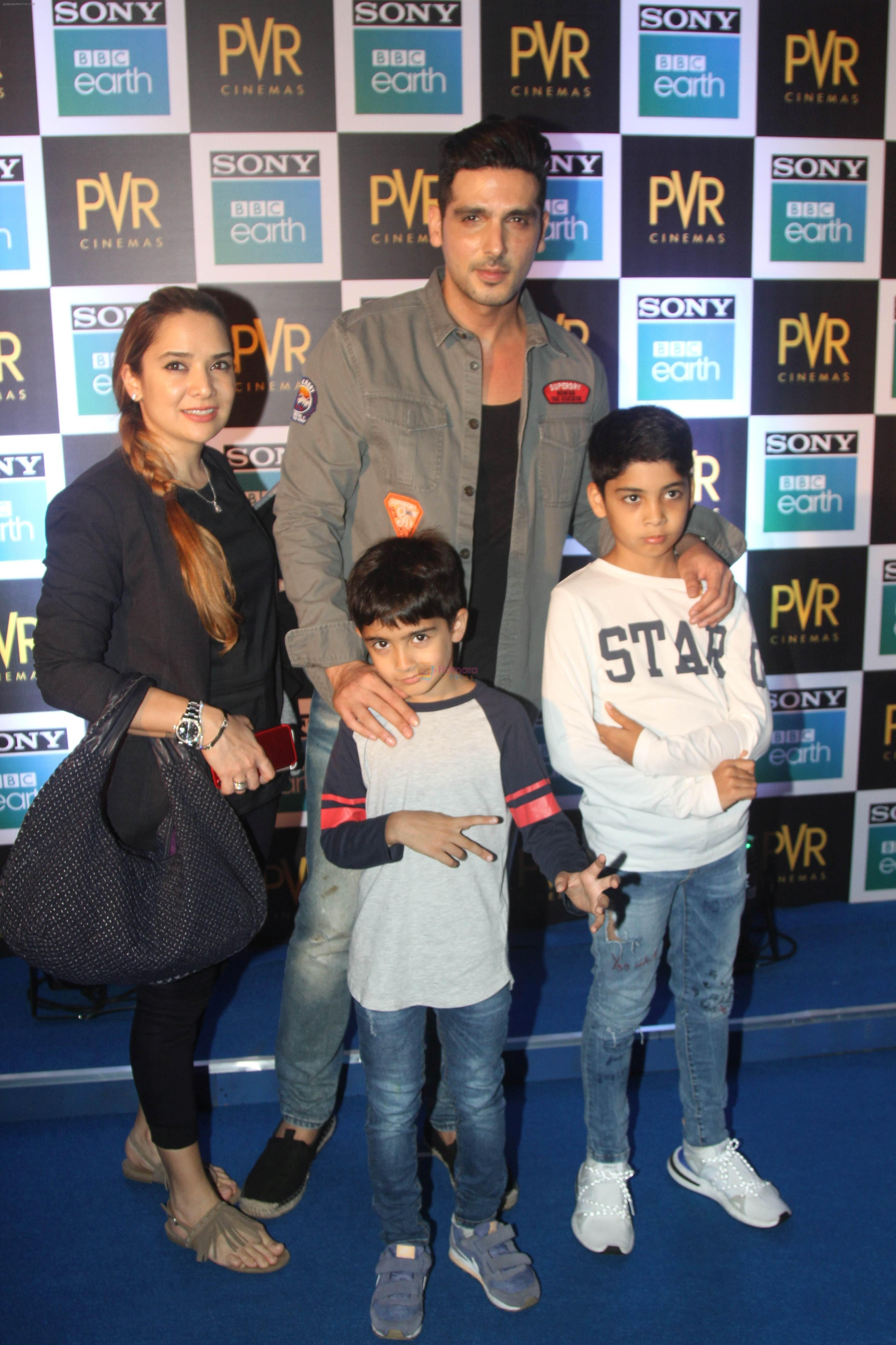 Zayed Khan at the Screening of Sony BBC Earth's film Blue Planet 2 at pvr icon in andheri on 15th May 2018