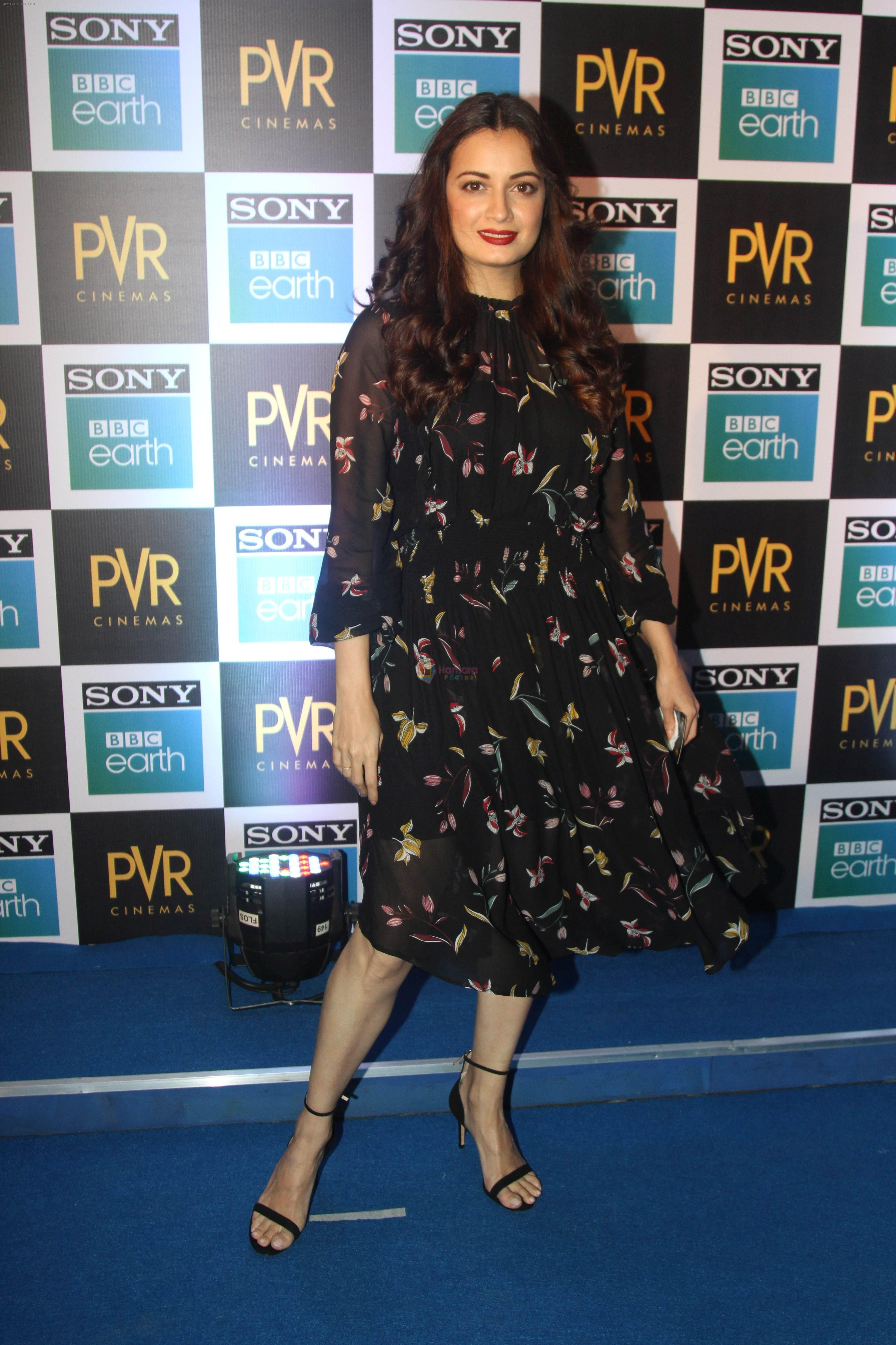 Dia Mirza at the Screening of Sony BBC Earth's film Blue Planet 2 at pvr icon in andheri on 15th May 2018