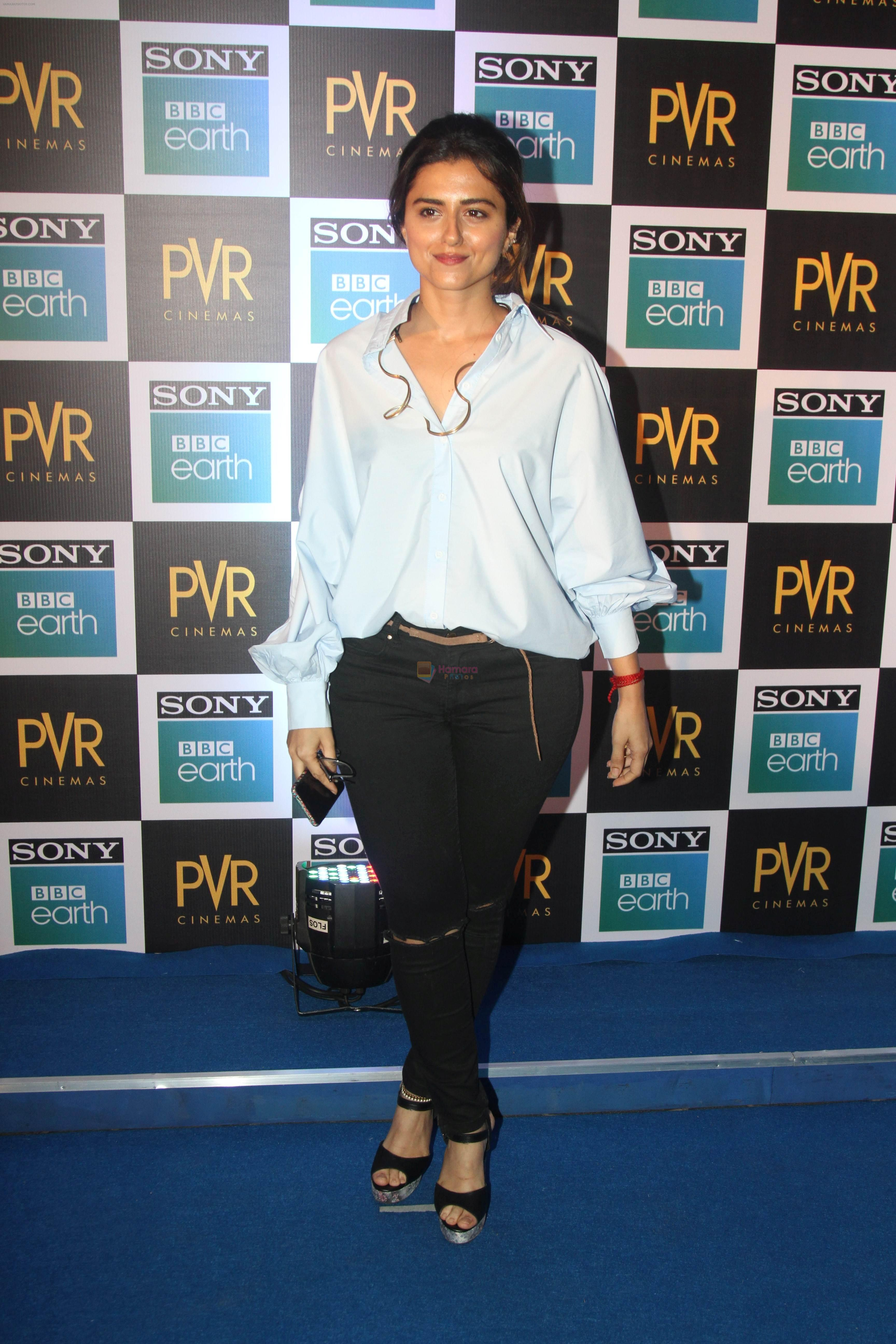 Riddhi Dogra at the Screening of Sony BBC Earth's film Blue Planet 2 at pvr icon in andheri on 15th May 2018