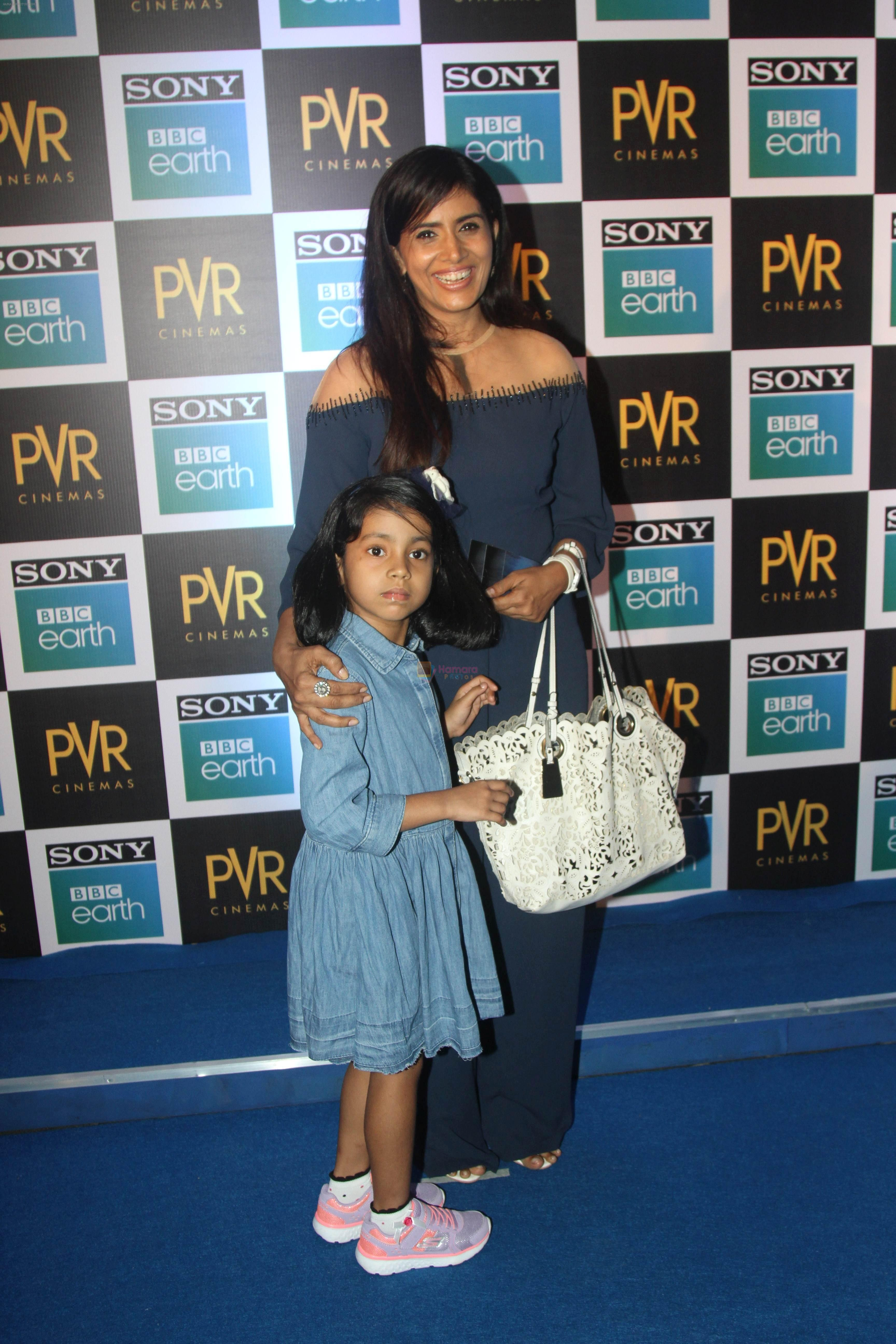 Sonali Kulkarni at the Screening of Sony BBC Earth's film Blue Planet 2 at pvr icon in andheri on 15th May 2018