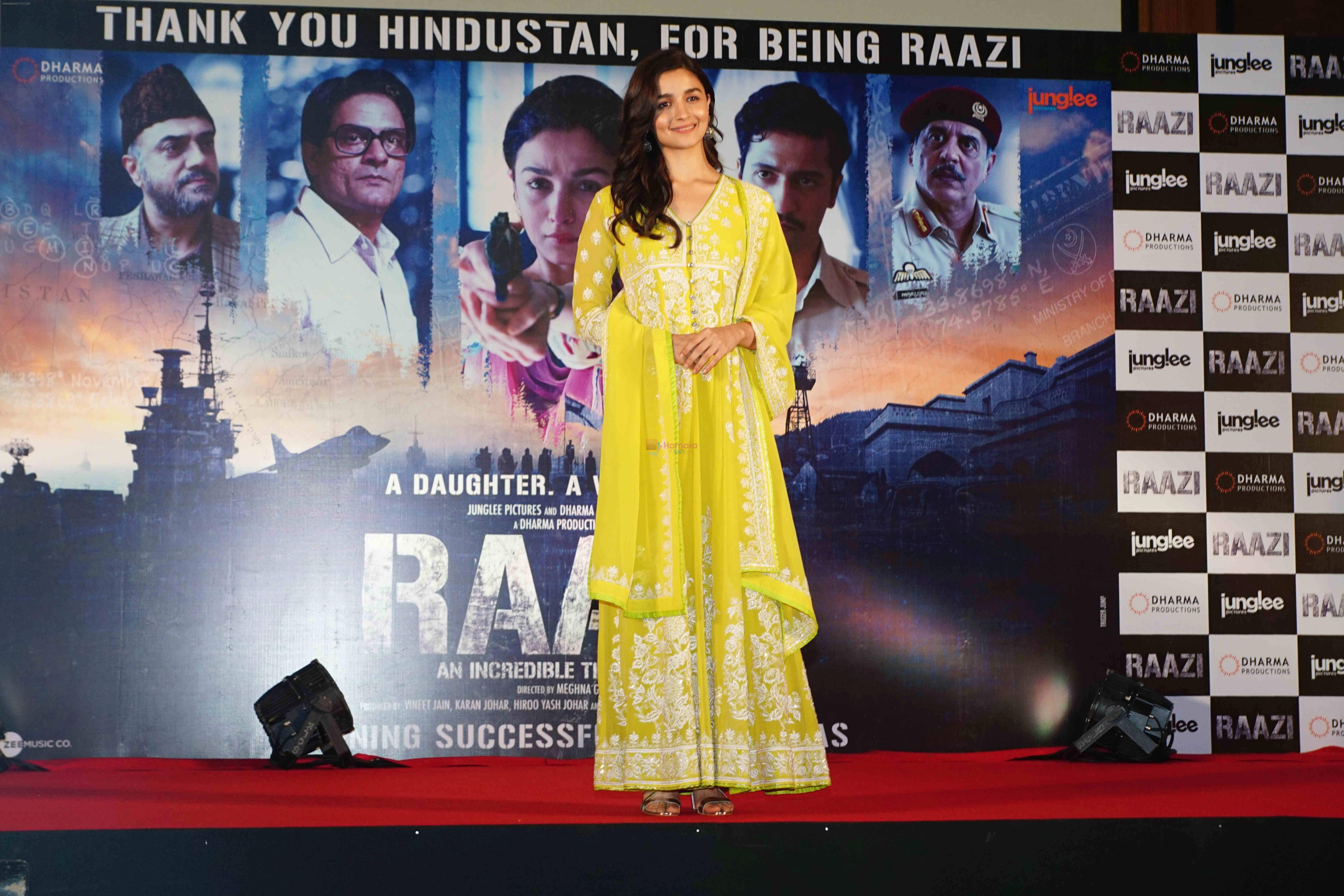 Alia Bhatt at the Success party of film Raazi at Taj Lands End bandra on 16th May 2018