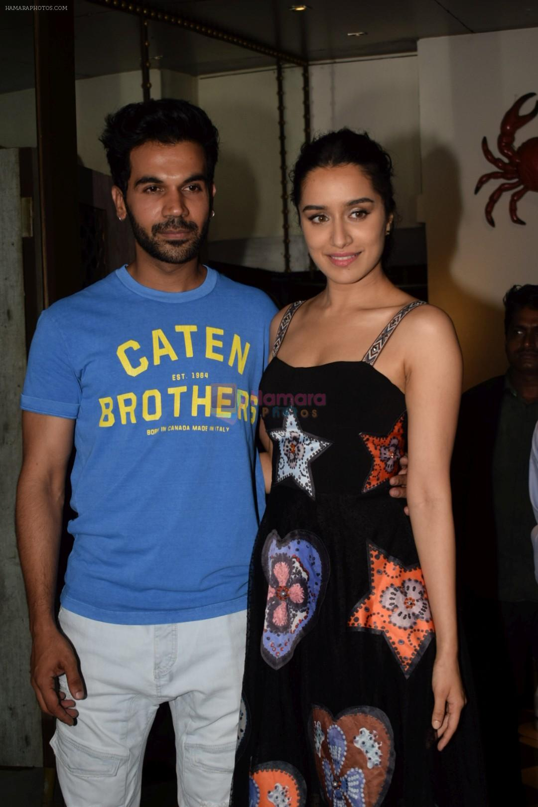 Shraddha Kapoor, Rajkummar Rao at Wrapup party of film Stree at Bastian in bandra on 16th May 2018