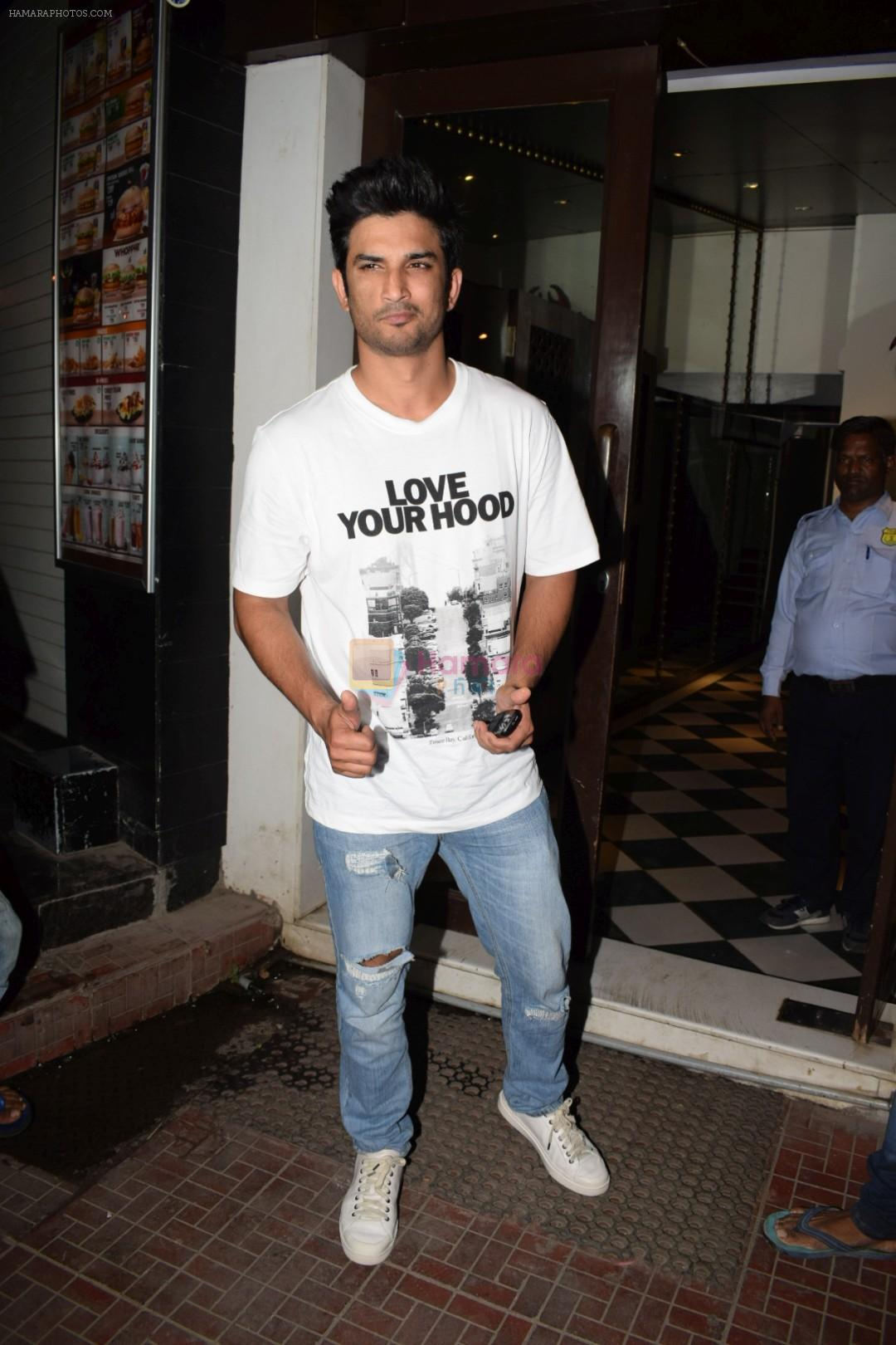 Sushant Singh Rajput at Wrapup party of film Stree at Bastian in bandra on 16th May 2018