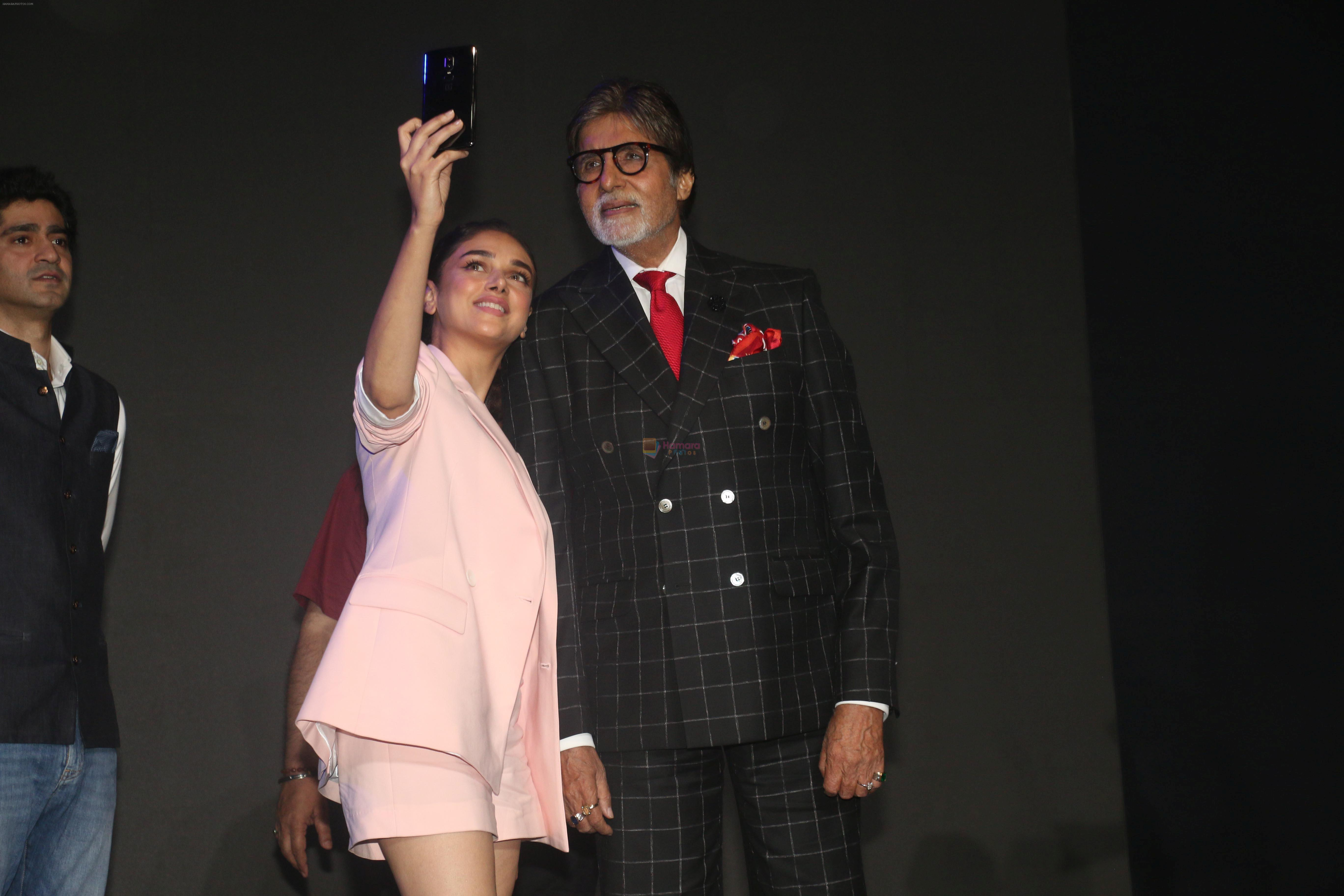 Amitabh Bachchan, Aditi Rao Hydari at the Launch of One Plus 6 in NSCI worli in mumbai on 17th May 2018