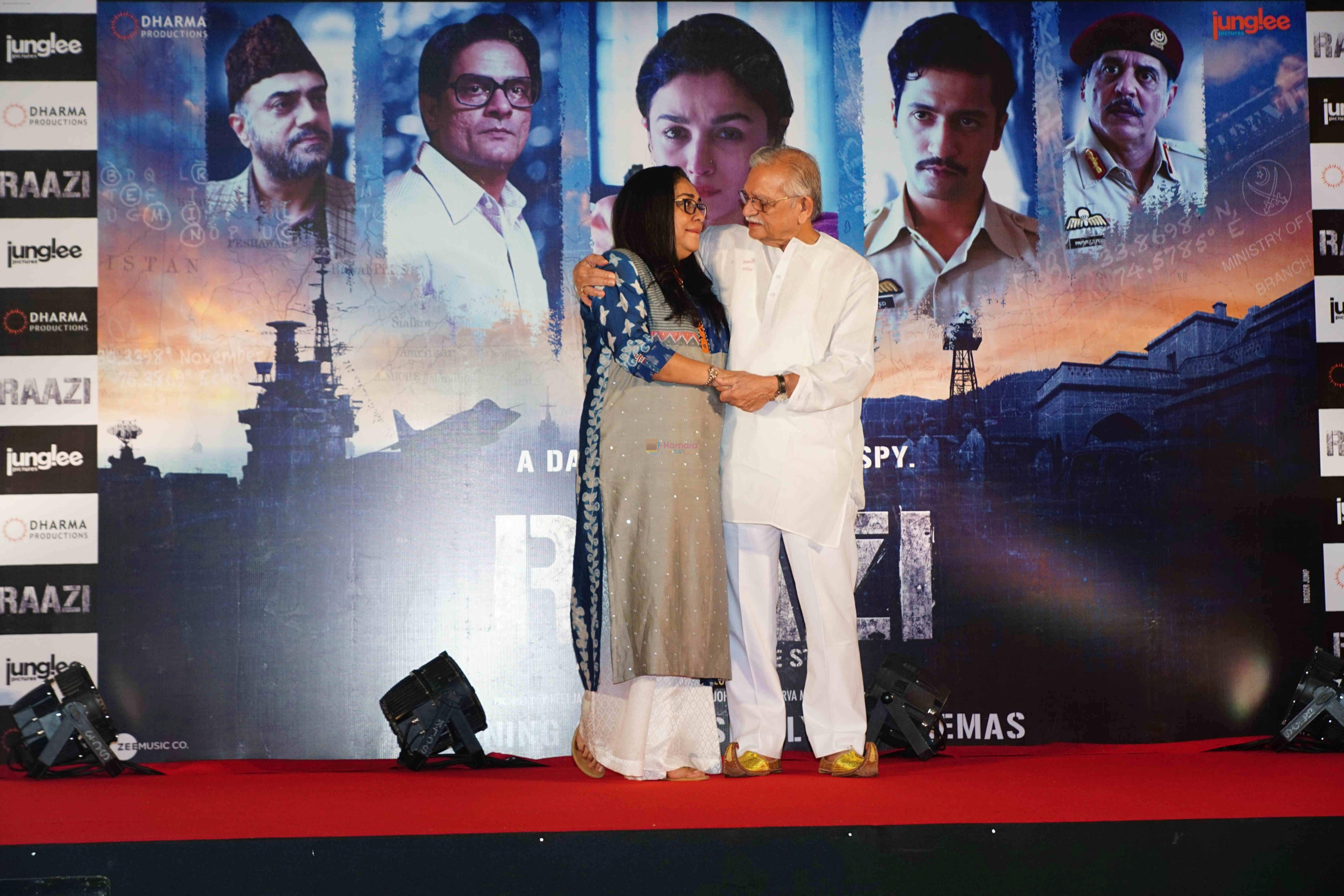 Meghna Gulzar, Gulzar at the Success party of film Raazi at Taj Lands End bandra on 16th May 2018