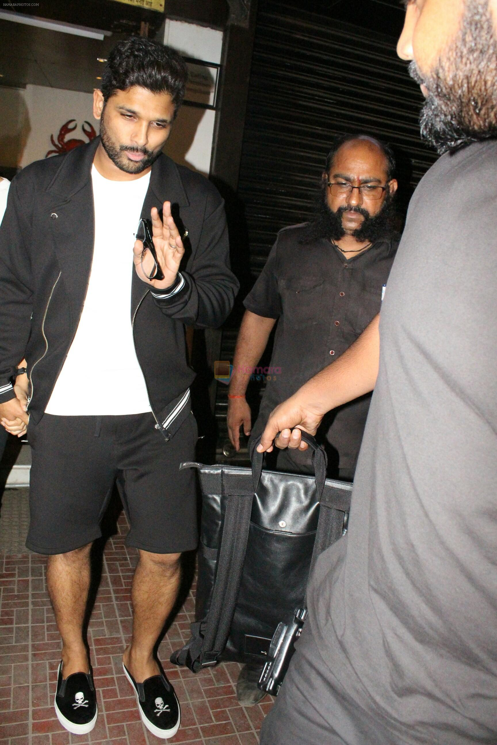 Allu Arjun spotted at bandra on 20th May 2018