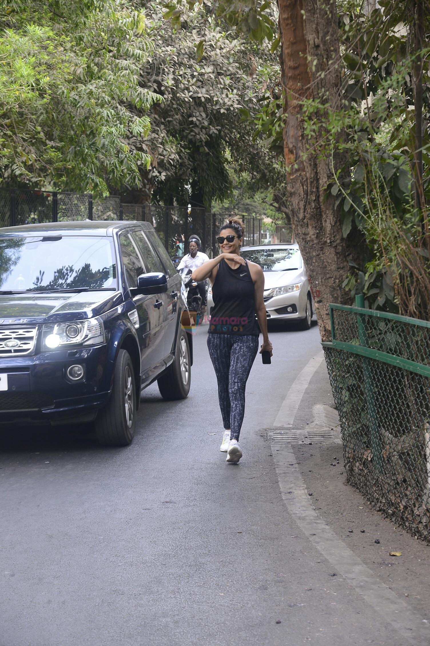 Daisy shah spotted at recording studio on 28th May 2018
