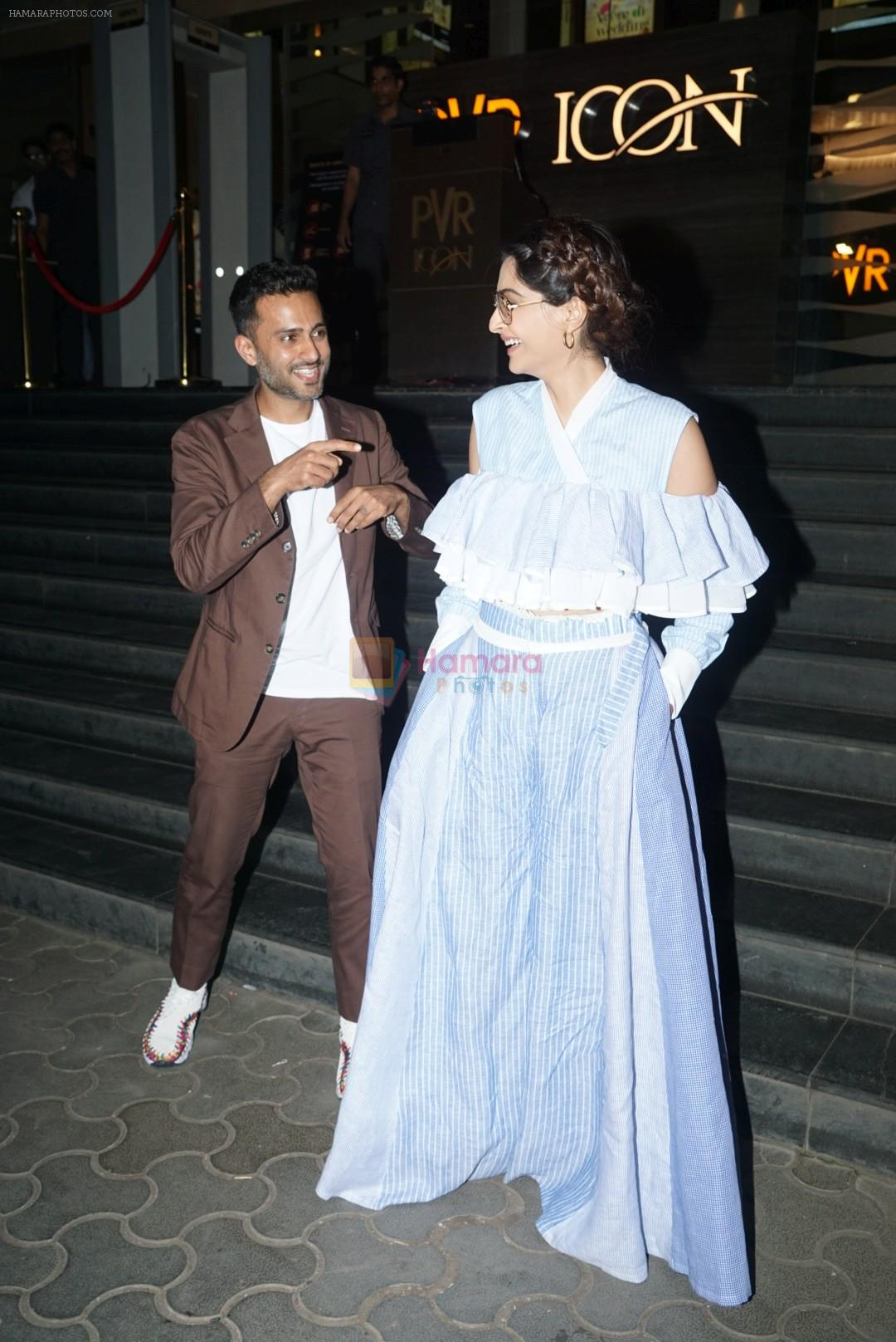 Sonam Kapoor at the screening of veere di wedding in pvr icon on 30th May 2018