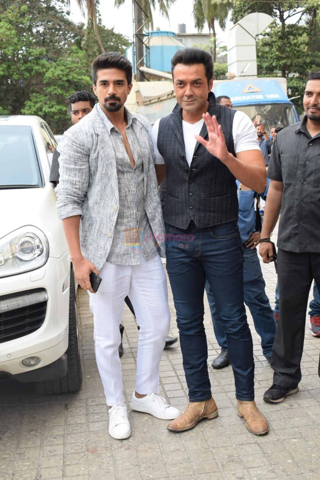 Bobby Deol, Saqib Saleem at the Song Launch Of Allah Duhai Hai From Film Race 3 on 1st June 2018