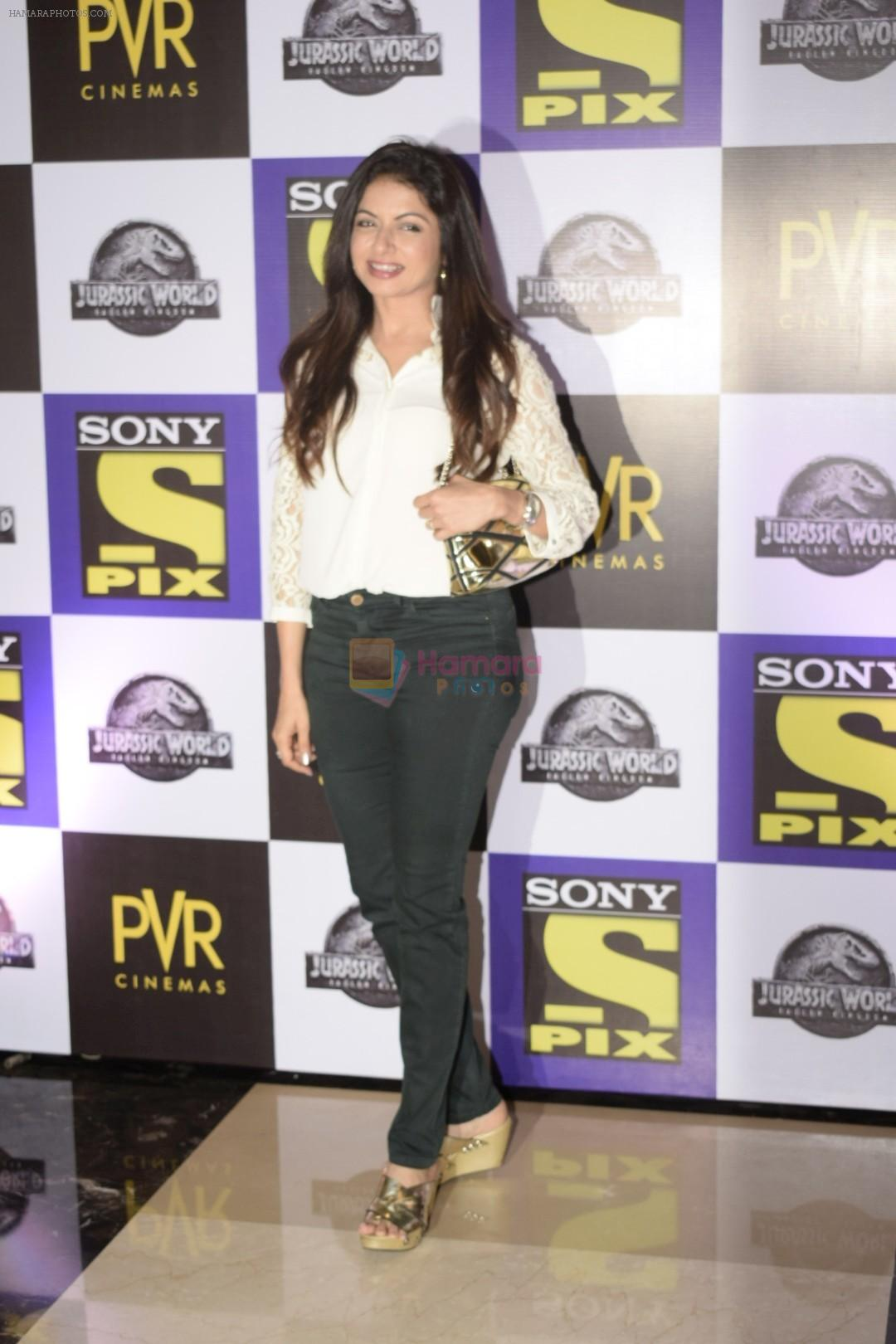 Bhagyashree at the Screening of Jurassic world in PVR icon Andheri on 6th June 2018