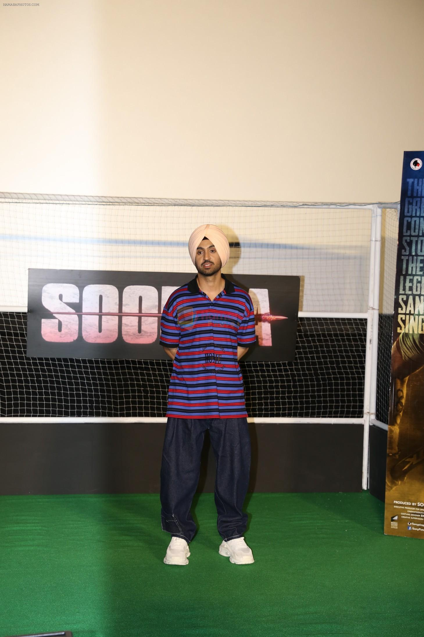 Diljit Dosanjh at the Trailer launch of film Soorma at pvr juhu in mumbai on 11th June 2018