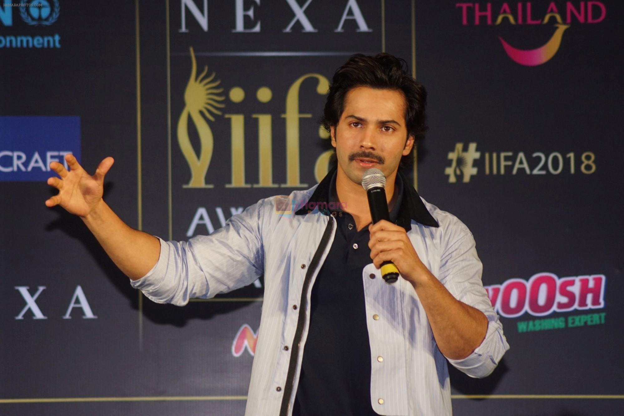 Varun Dhawan at IIFA press conference in jw marriott juhu on 12th June 2018