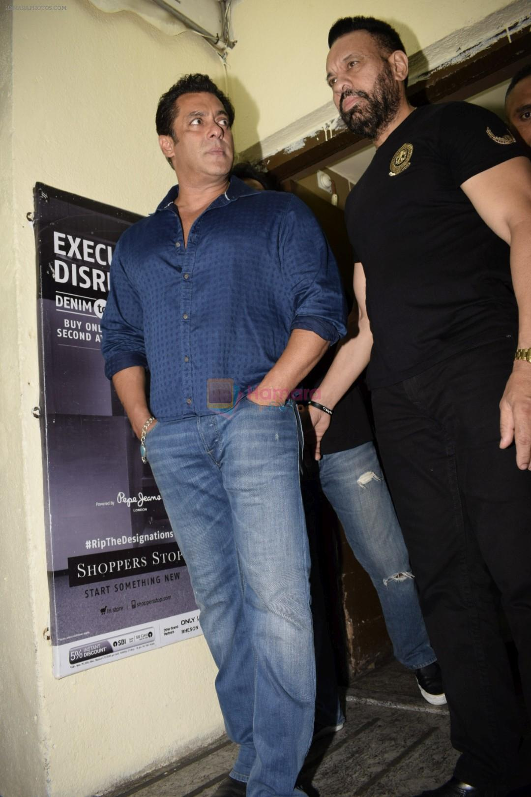 Salman Khan at the Screening of Race 3 in pvr juhu on 12th June 2018