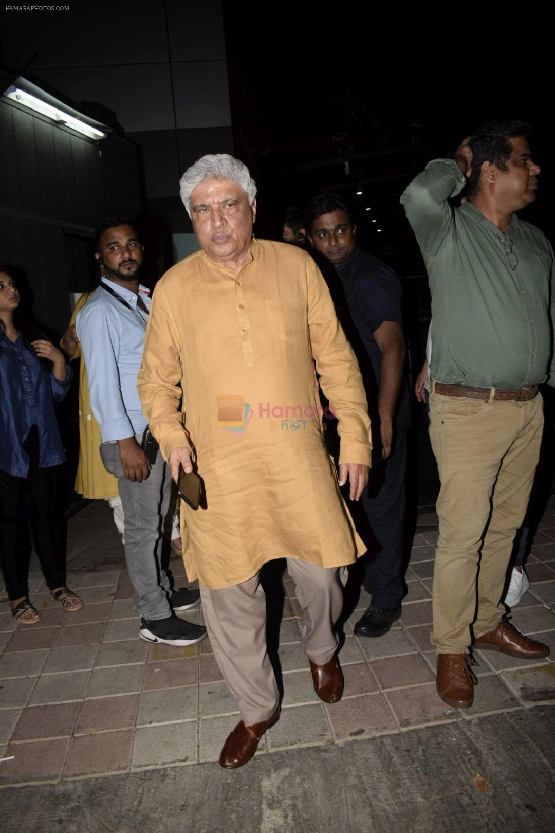 Javed Akhtar at the Screening of Lust stories in bandra on 13th June 2018