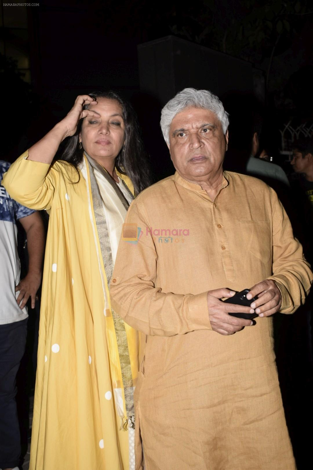 Shabana Azmi, Javed Akhtar at the Screening of Lust stories in bandra on 13th June 2018