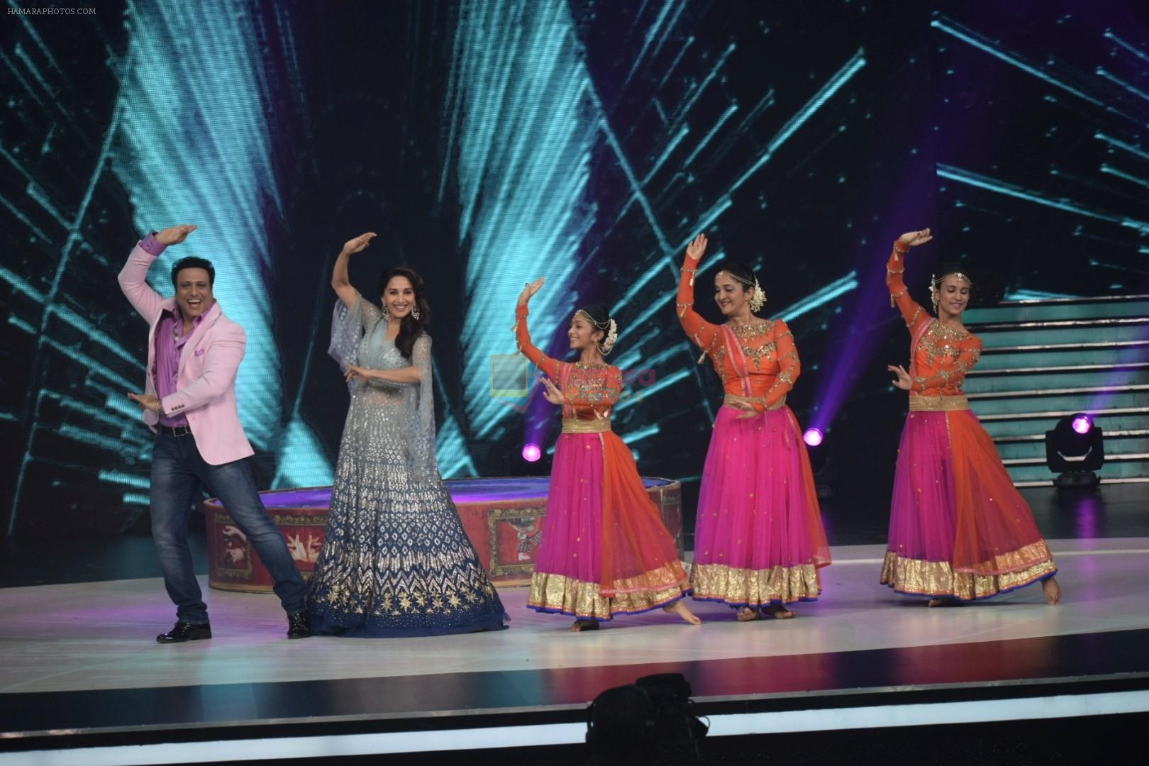 Govinda, Madhuri Dixit on the sets of Colors dance realty show Dance Deewane in filmcity on 13th June 2018