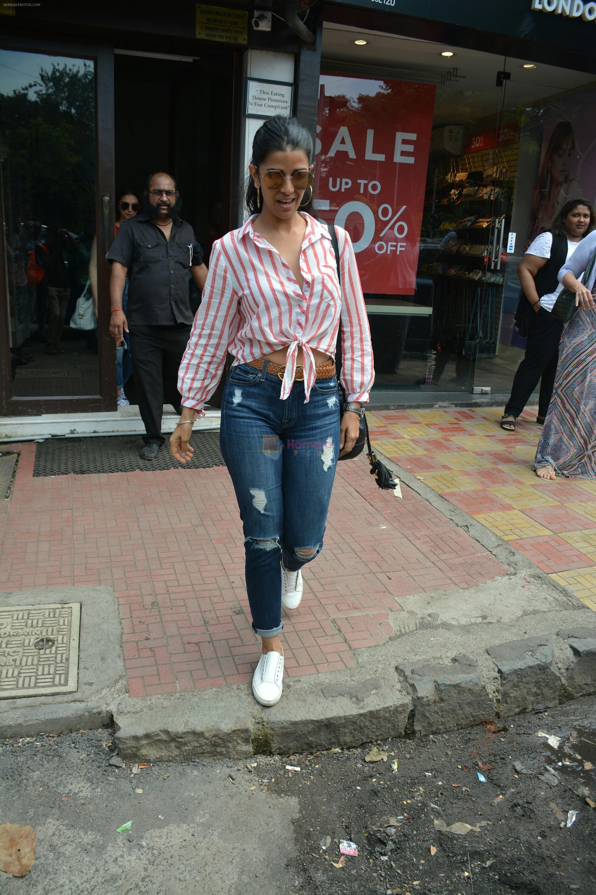 Nimrat Kaur spotted at Bastian in Bandra on 1st July 2018
