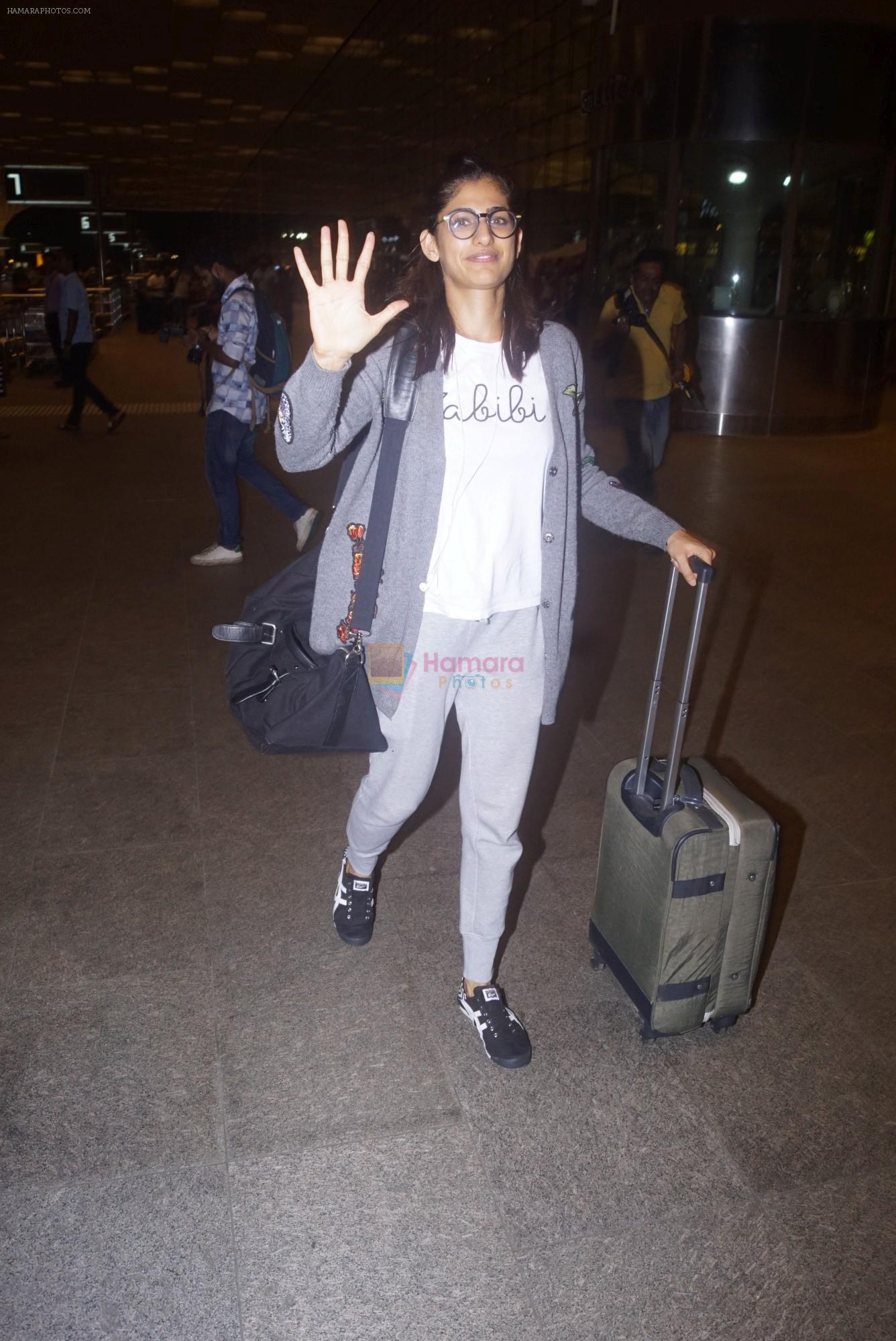 Kubra Sait spotted at airport on 11th July 2018