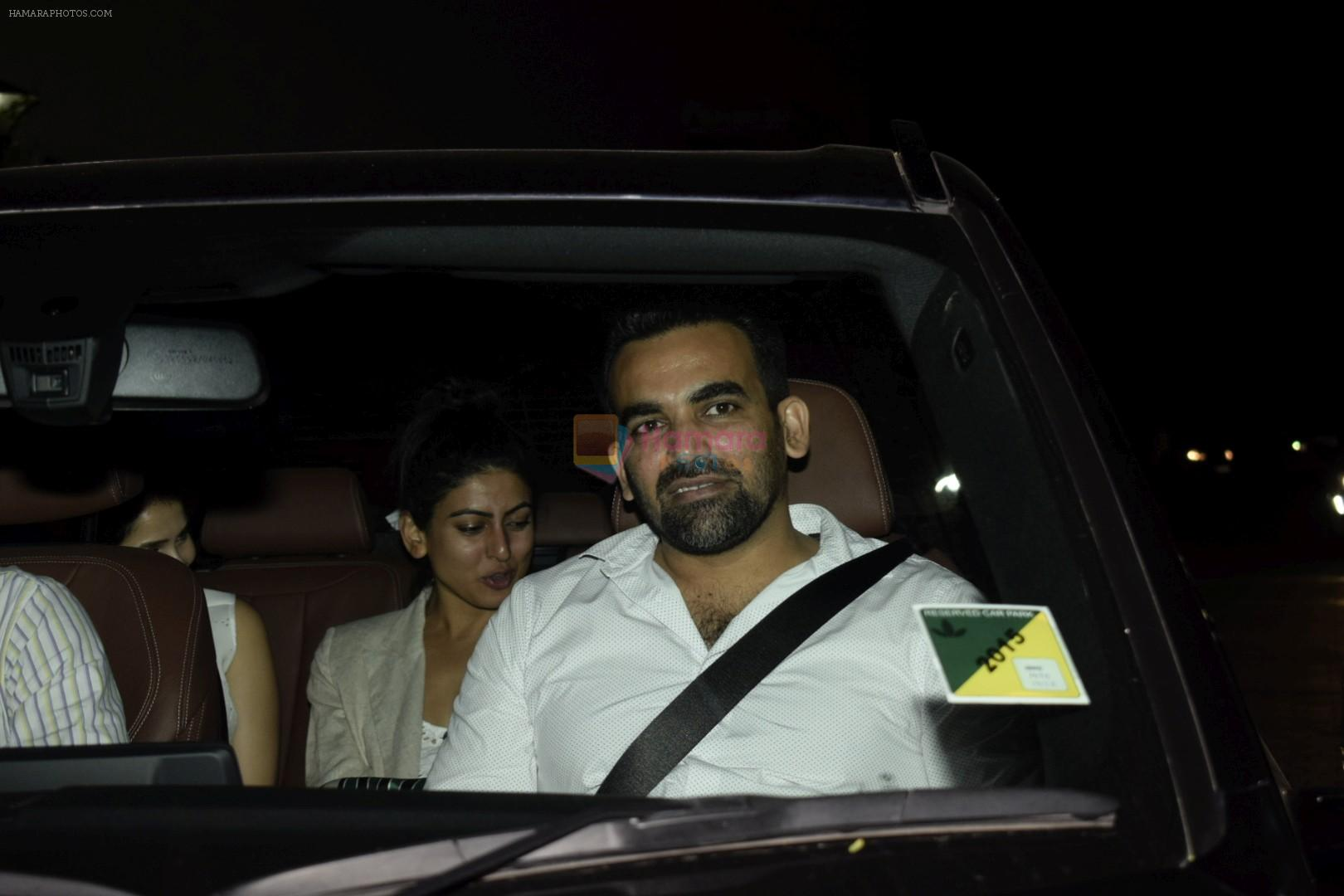 Zaheer Khan, Sagarika Ghatge at the Screening of Soorma in Yashraj studios on 11th July 2018