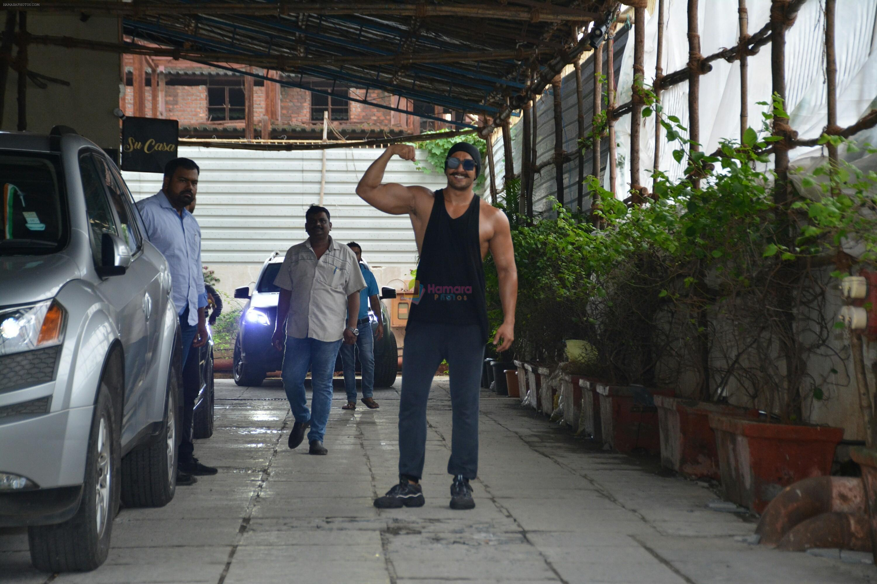 Ranveer Singh spotted at gym in bandra on 12th July 2018